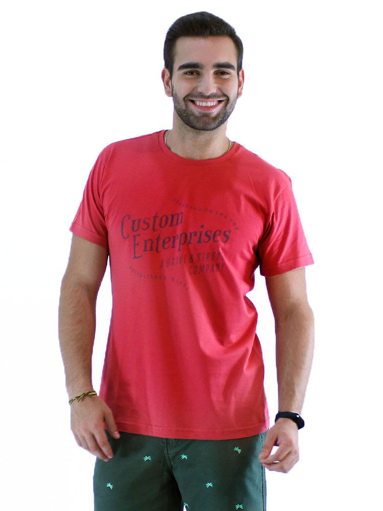 Camiseta Anistia Slim Fit Heaven Vermelho