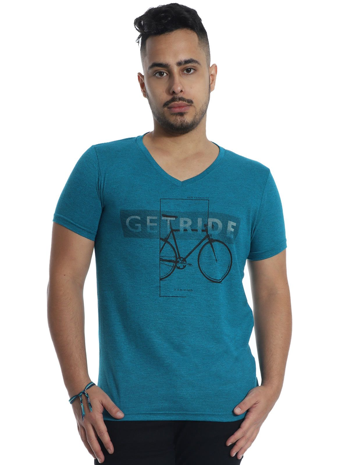 Camiseta Anistia Slim Fit Modal Ride Verde