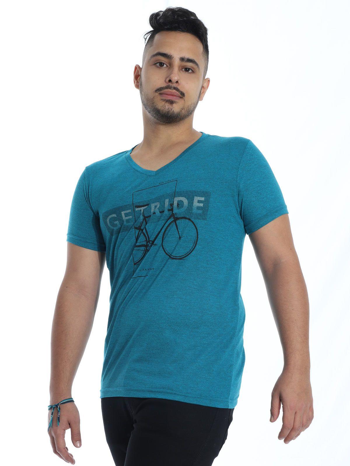 Camiseta Anistia Slim Fit Modal Ride Verde