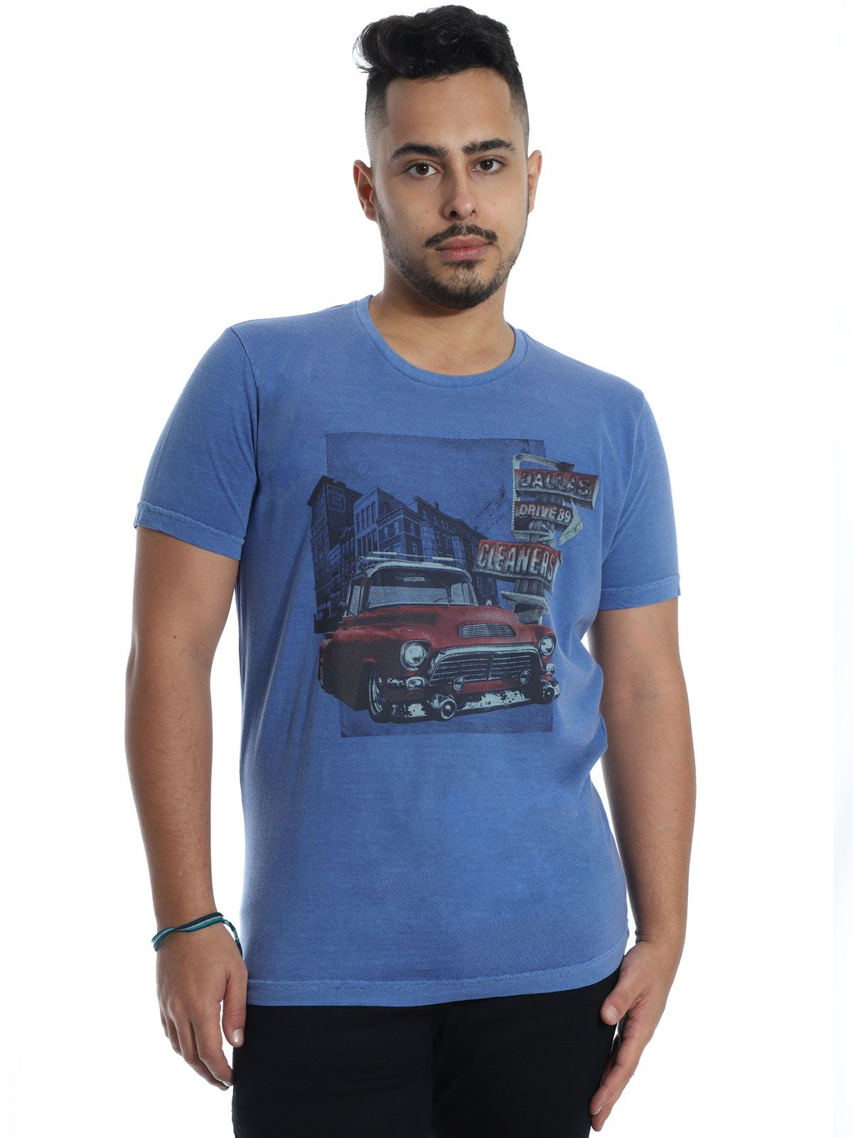 Camiseta Anistia Slim Fit Stonada Dallas Jeans