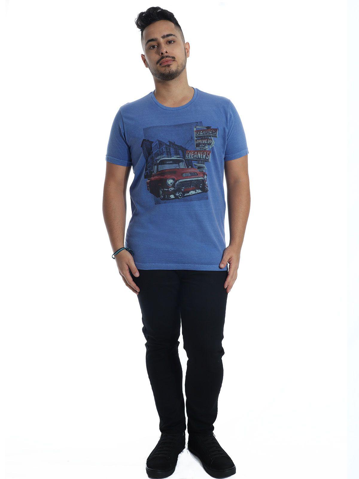 Camiseta Anistia Slim Fit Stonada Dallas Jeans