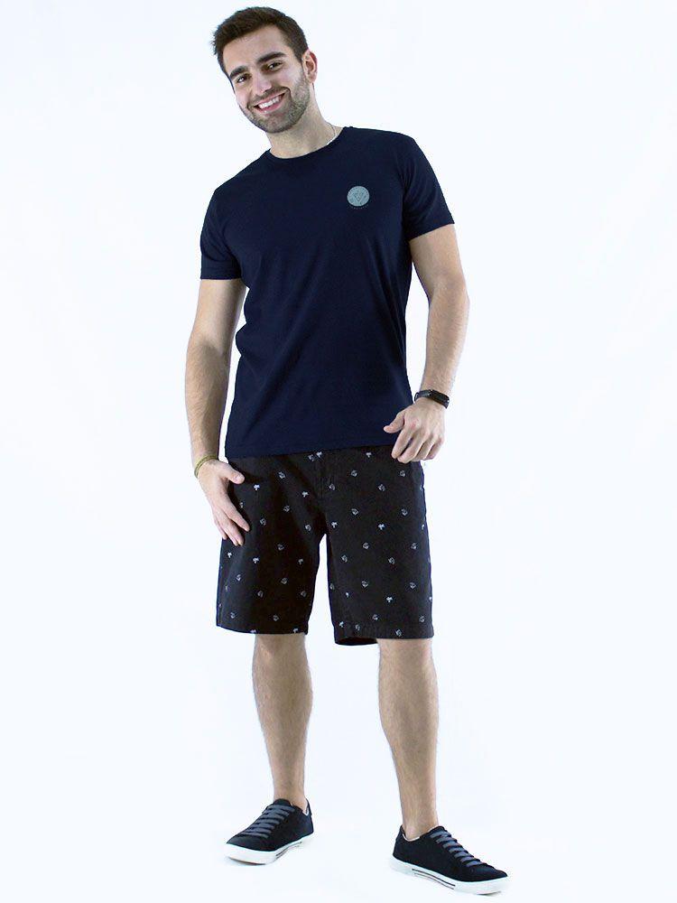 Camiseta Masculina Slim Fit Anistia Templeton Marinho