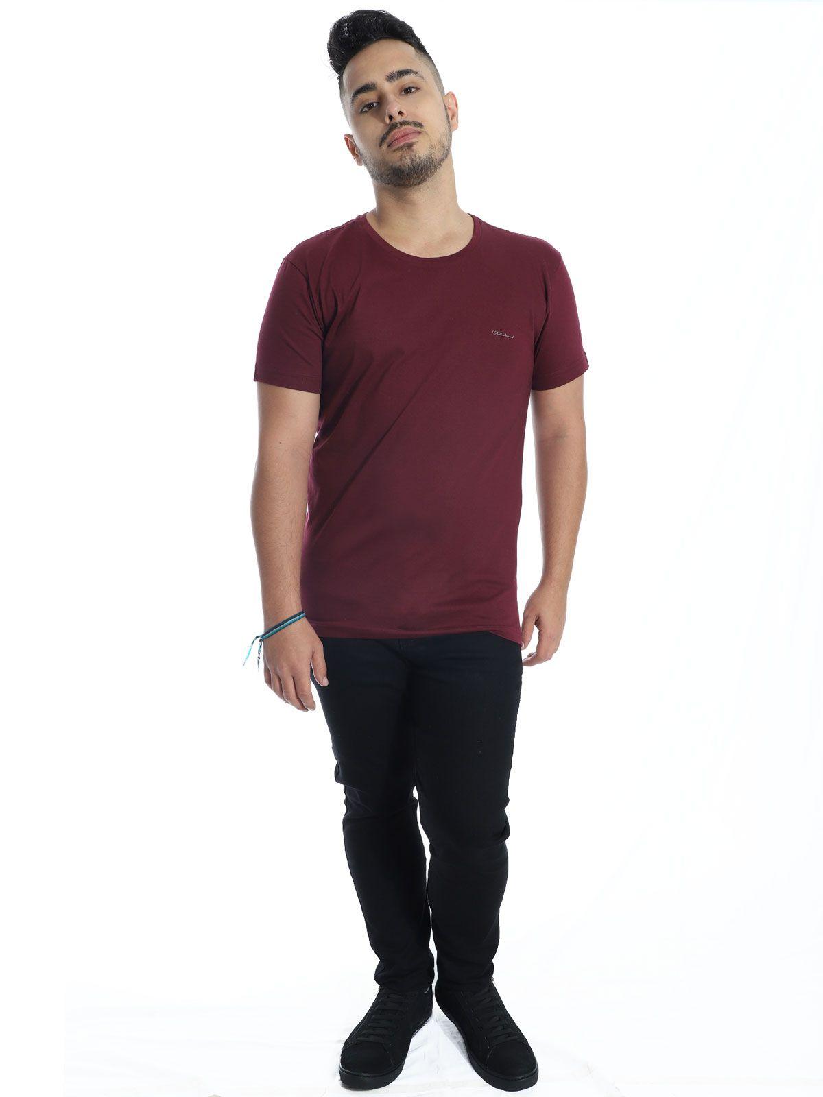 Camiseta Anistia Slim Fit Ultrabrand Vinho