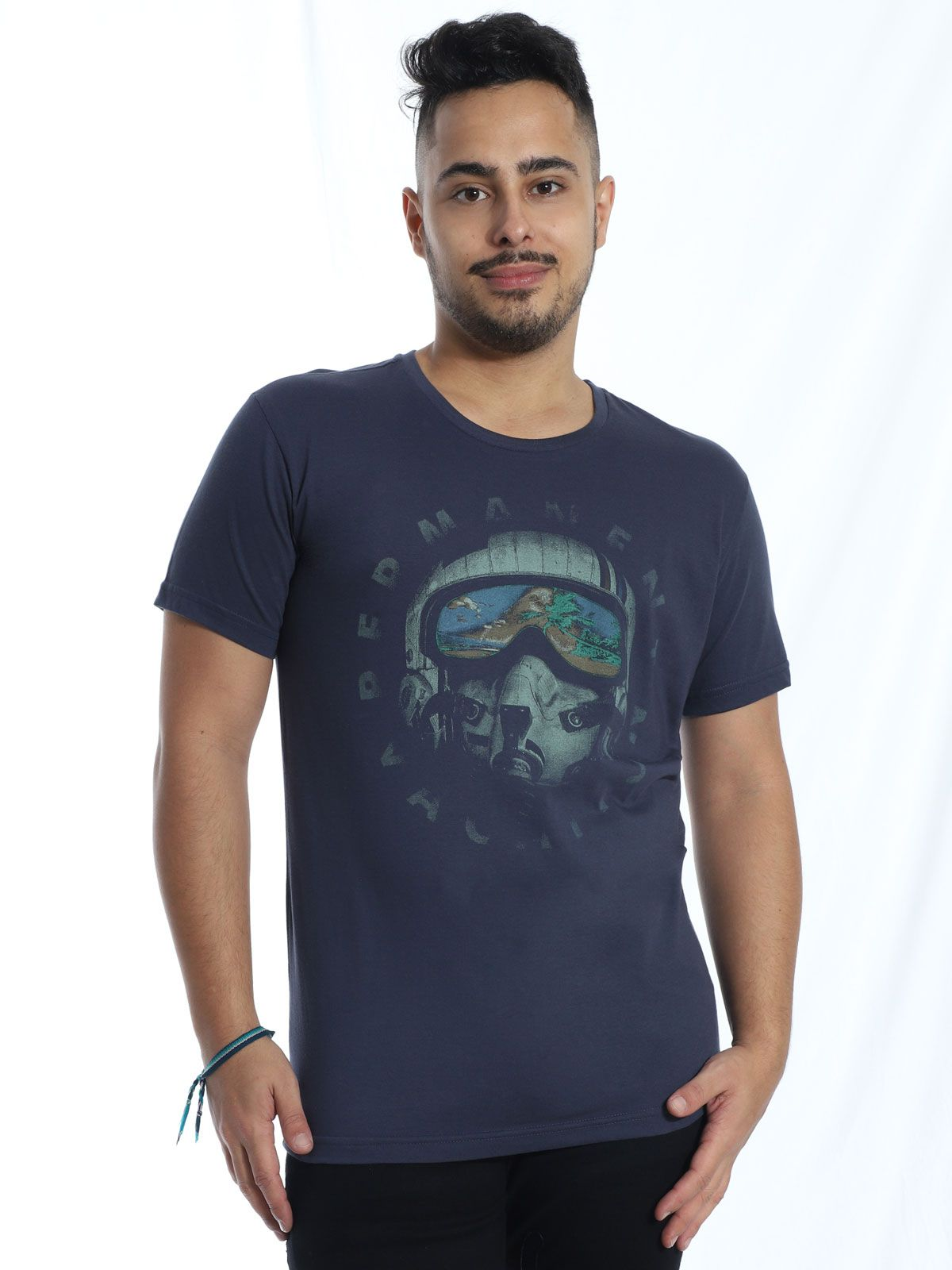 Camiseta Anistia Slim Fit Vacation Grafite