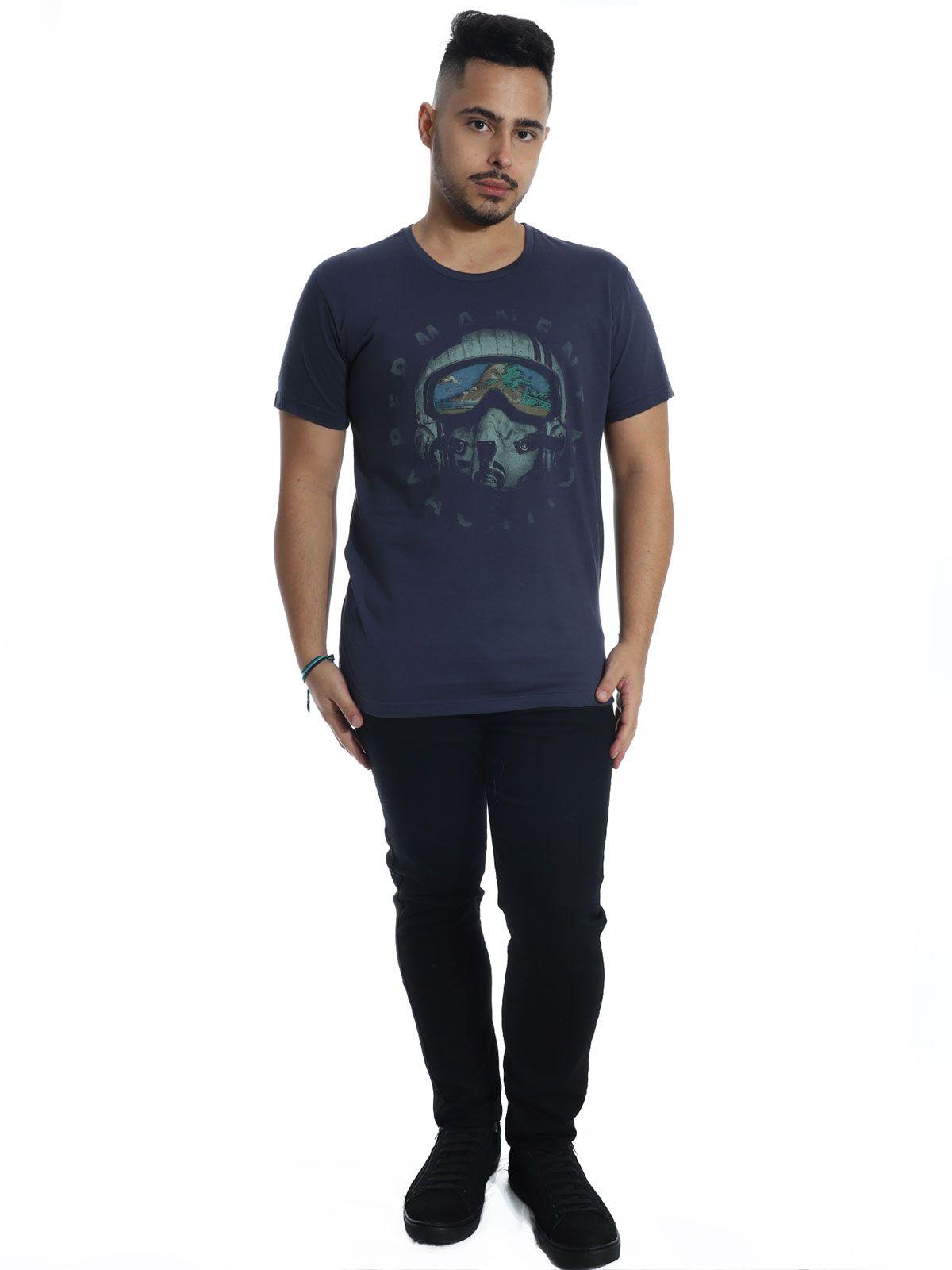 Camiseta Anistia Slim Fit Vacation Grafite