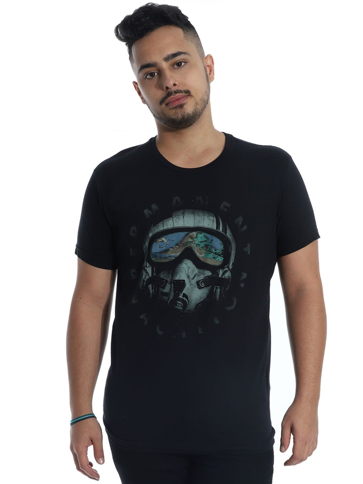 Camiseta Anistia Slim Fit Vacation Preto
