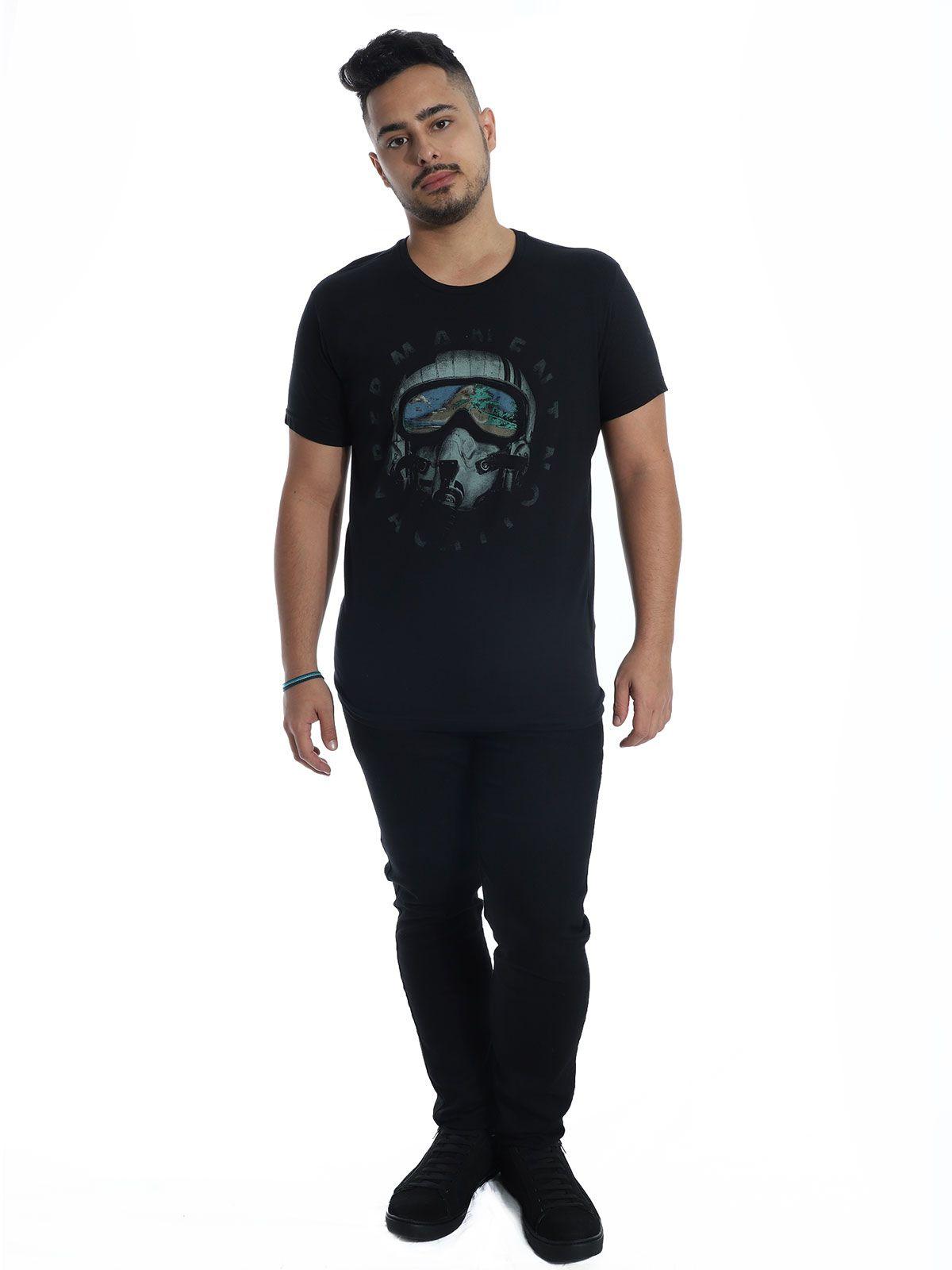 Camiseta Masculina Slim Fit Anistia Vacation Preto
