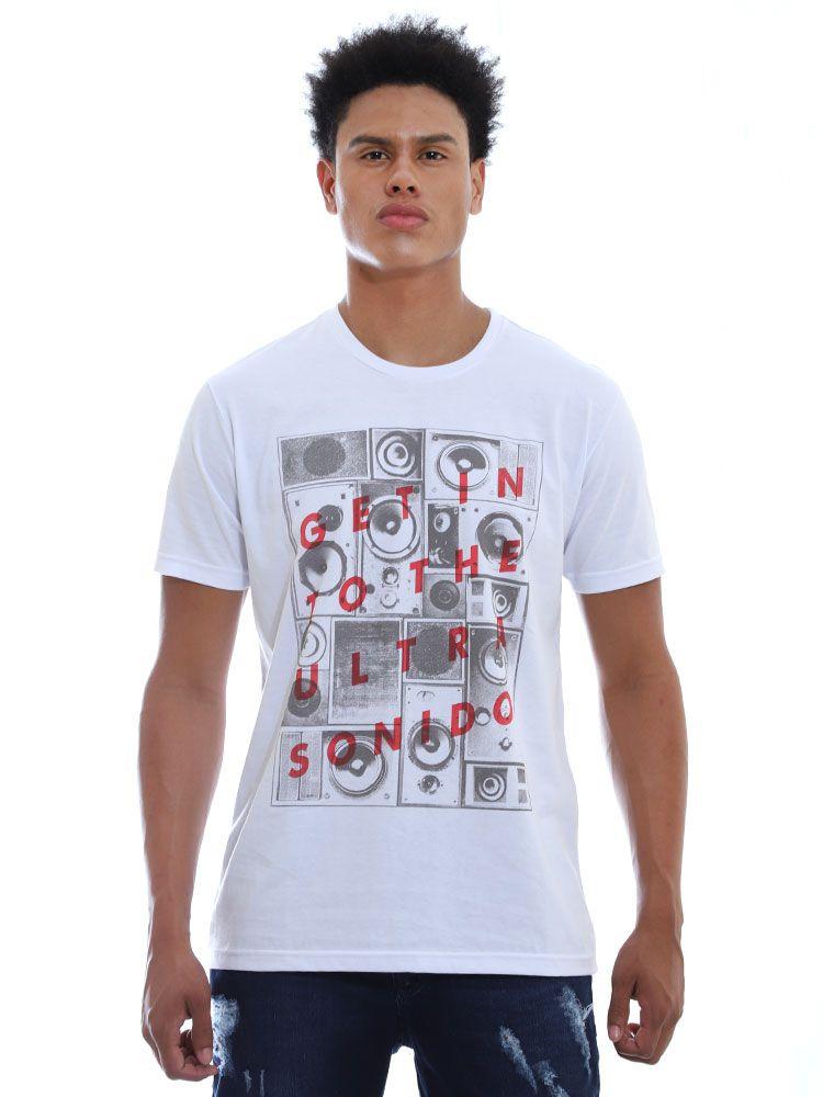 Camiseta Anistia Sonido Branco
