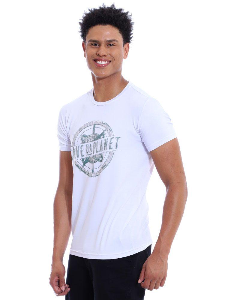 Camiseta Anistia Visco Slim Fit Branco