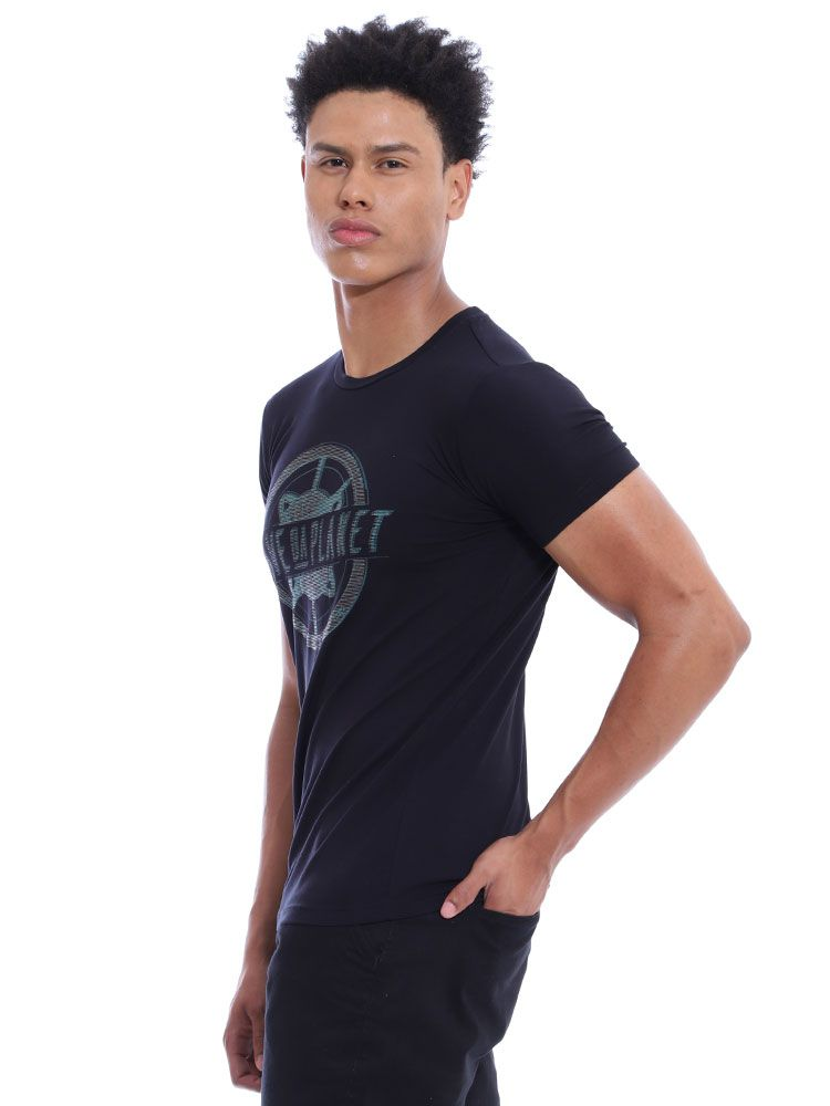 Camiseta Masculina Visco Slim Fit Anistia Preto