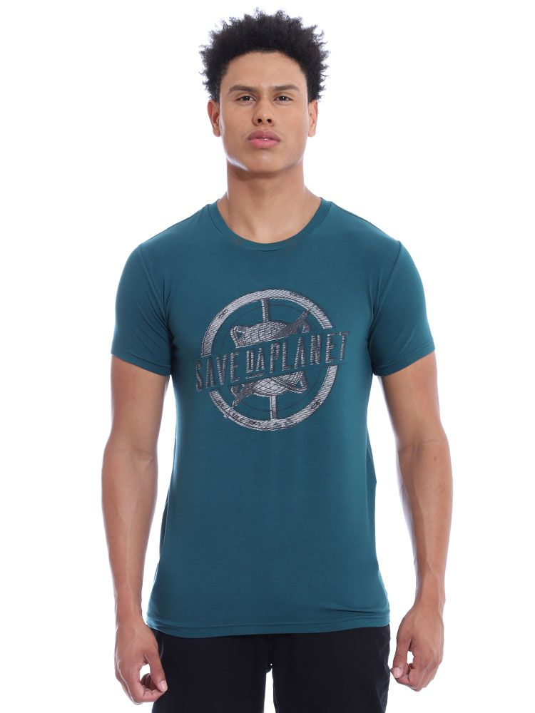 Camiseta Anistia Visco Slim Fit Verde