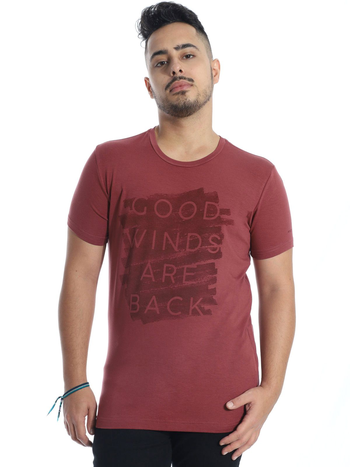 Camiseta Anistia Visco Slim Fit Winds Bordo
