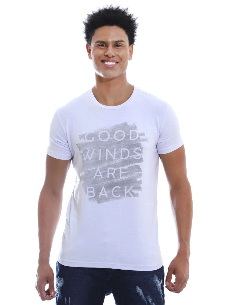 Camiseta Anistia Visco Slim Fit Winds Branco