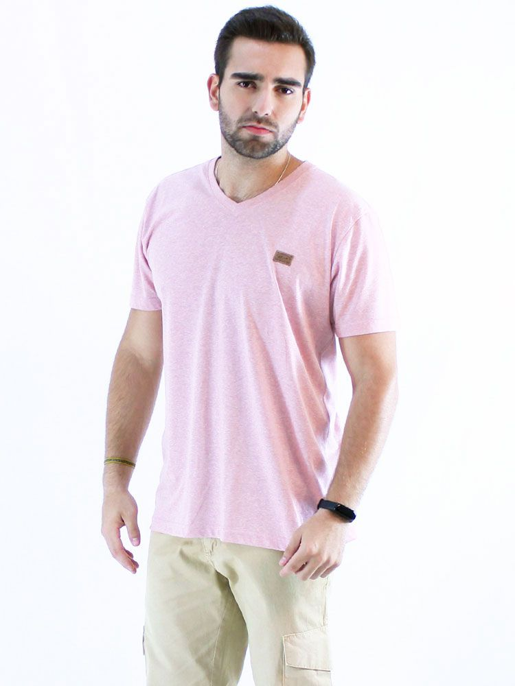 Camiseta Decote V. Anistia Mouline Rosê