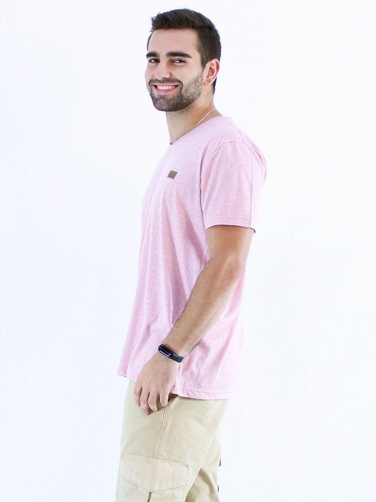 Camiseta Decote V. Masculino Mouline Anistia Rosê