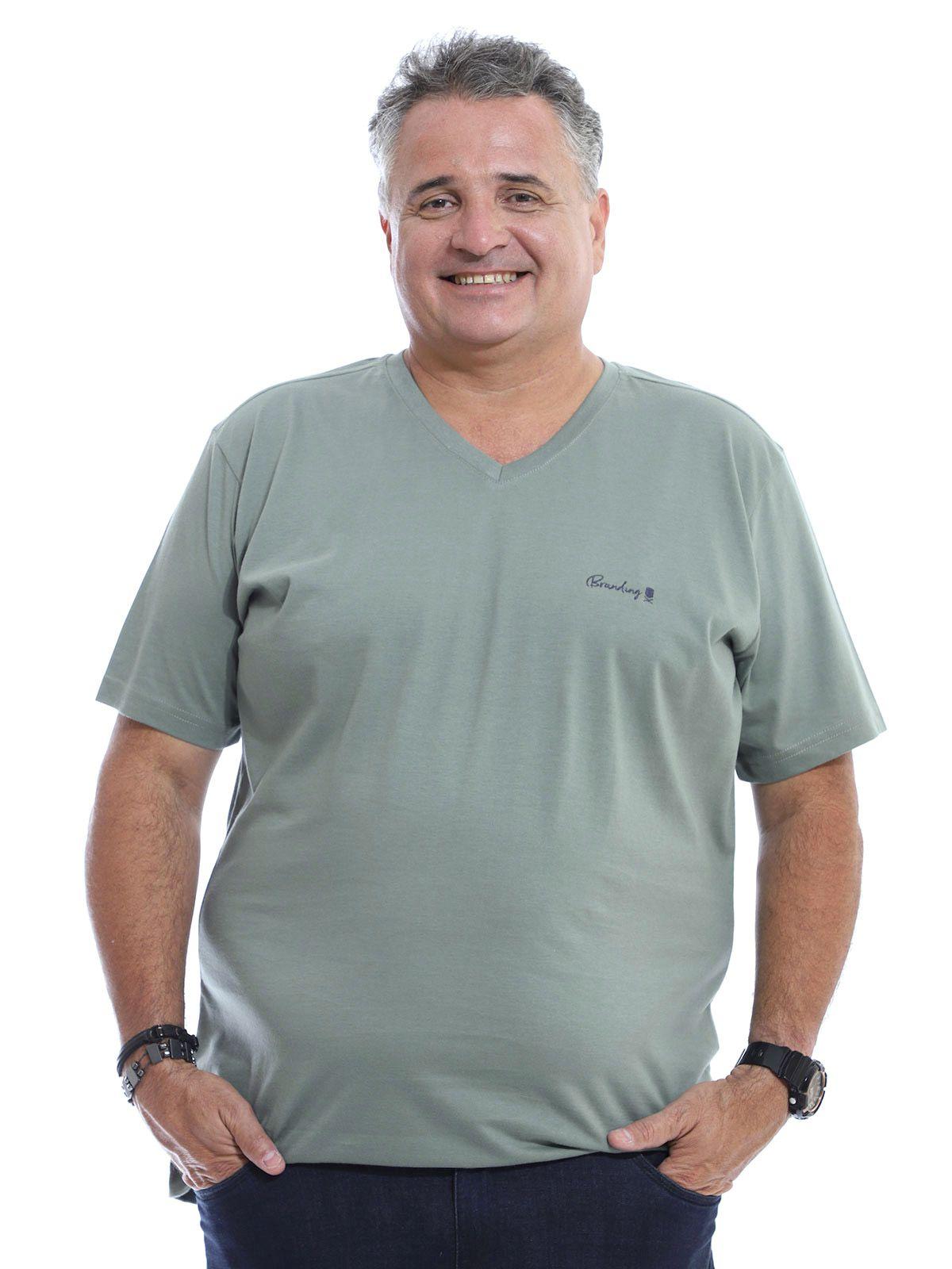 Camiseta Decote V. Plus Size Anistia Concreto