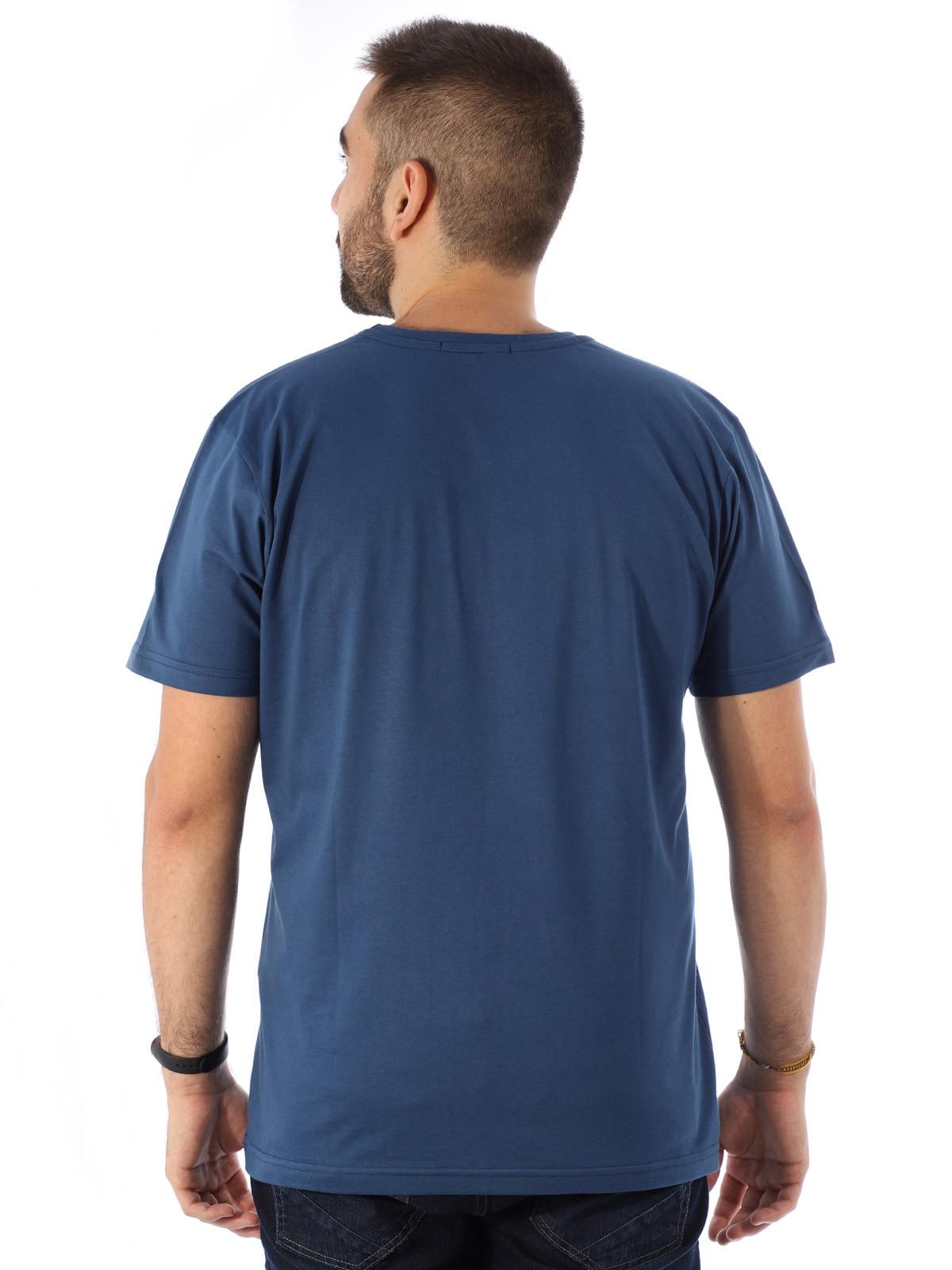 Camiseta Masculina Algodão Básica Estampa Penas Jeans