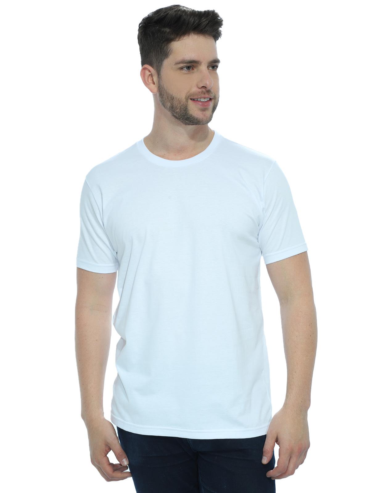 Camiseta Masculina Algodão Manga Curta Básica Lisa Branco