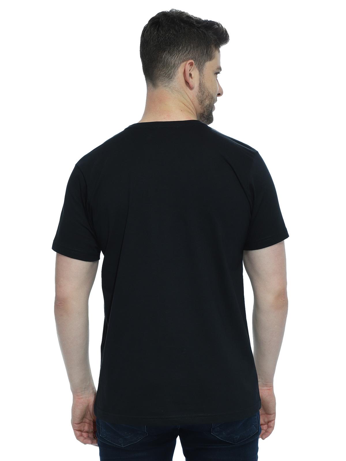 Camiseta Masculina Algodão Manga Curta Básica Lisa Preto