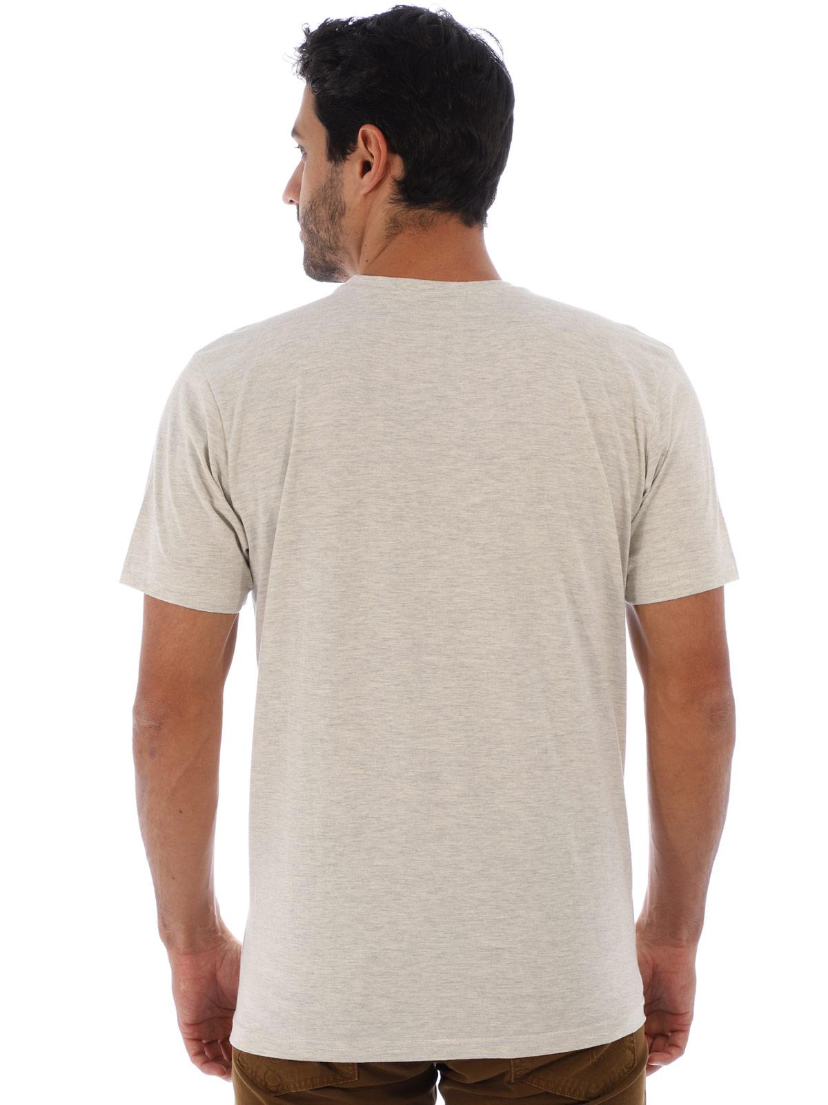 Camiseta Masculina Básica Algodão Estampa Ingredients Mescla