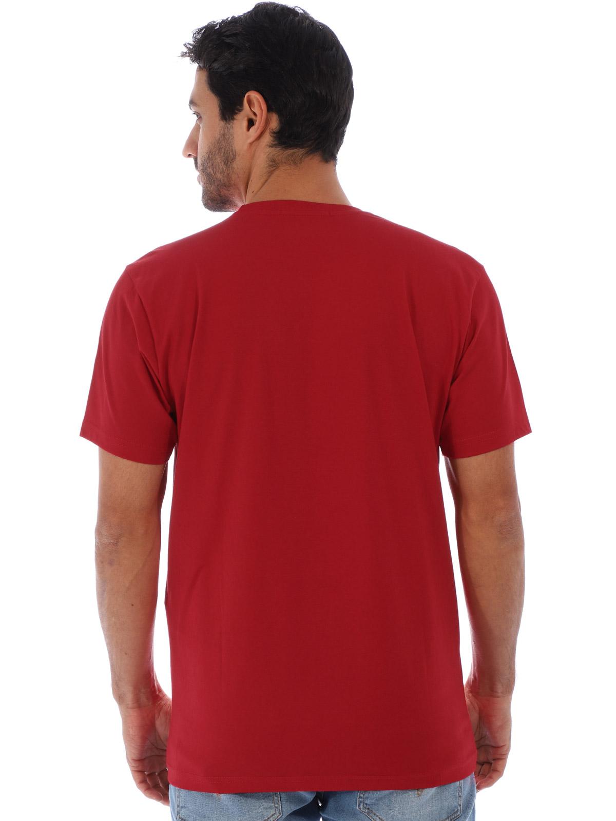 Camiseta Masculina Básica Estampa Ingredients Vermelho