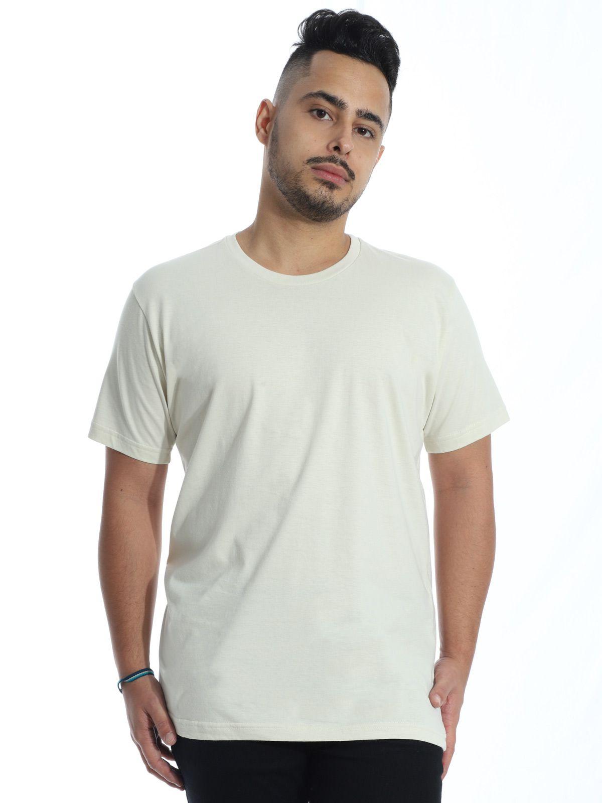 Camiseta Masculina Básica Lisa Areia