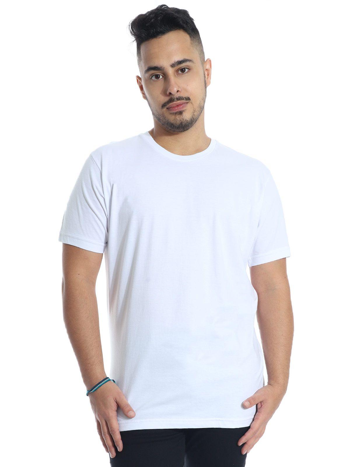 Camiseta Masculina Básica Lisa Branco