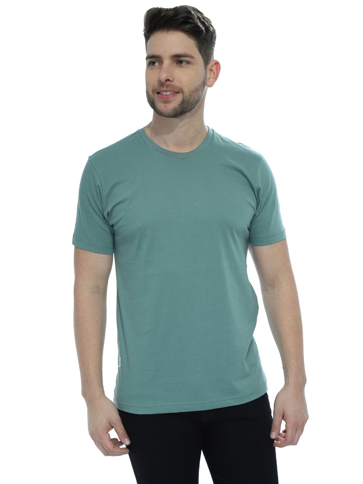 Camiseta Masculina Básica Lisa Concreto
