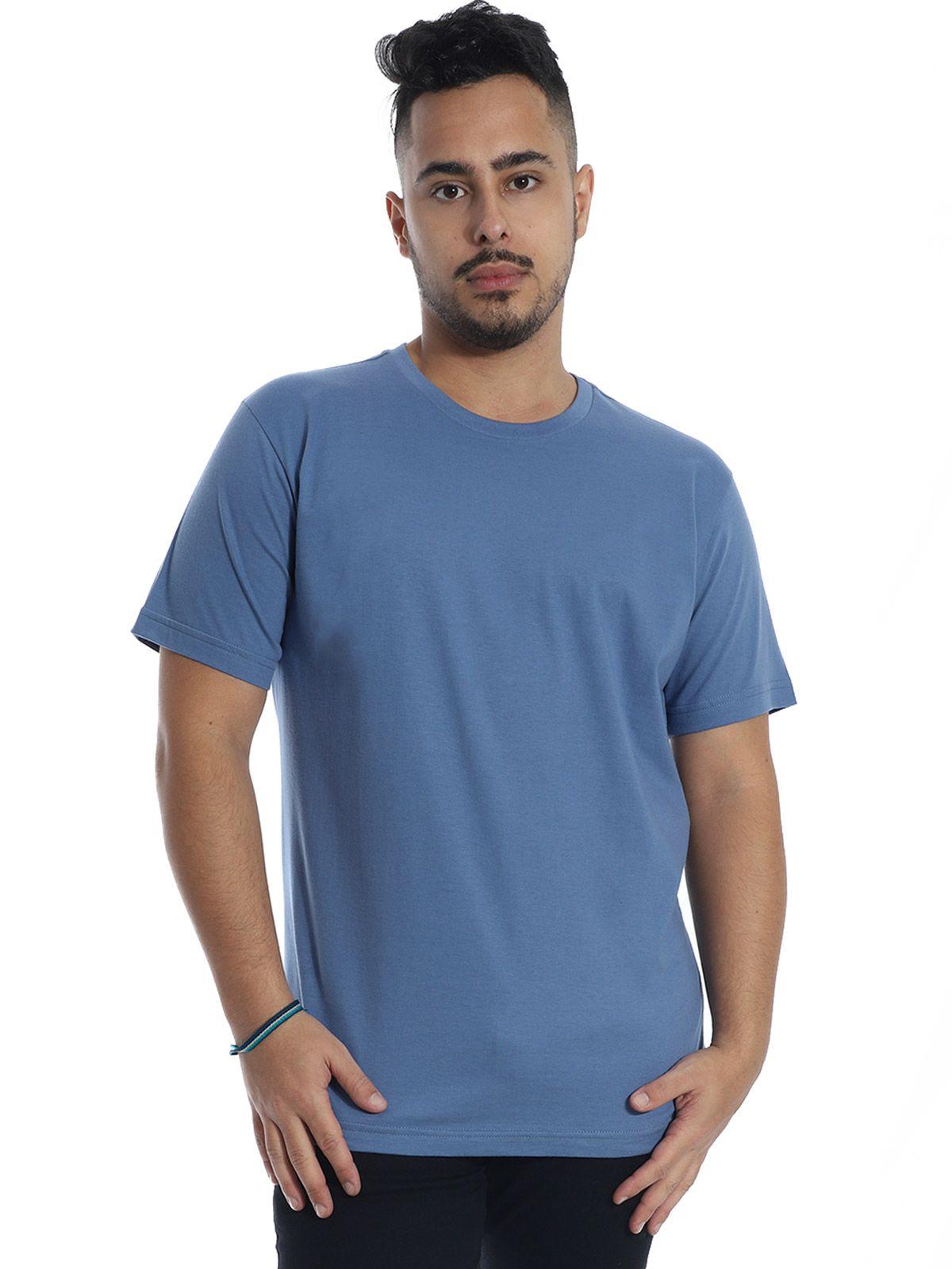 Camiseta Masculina Básica Lisa Indigo