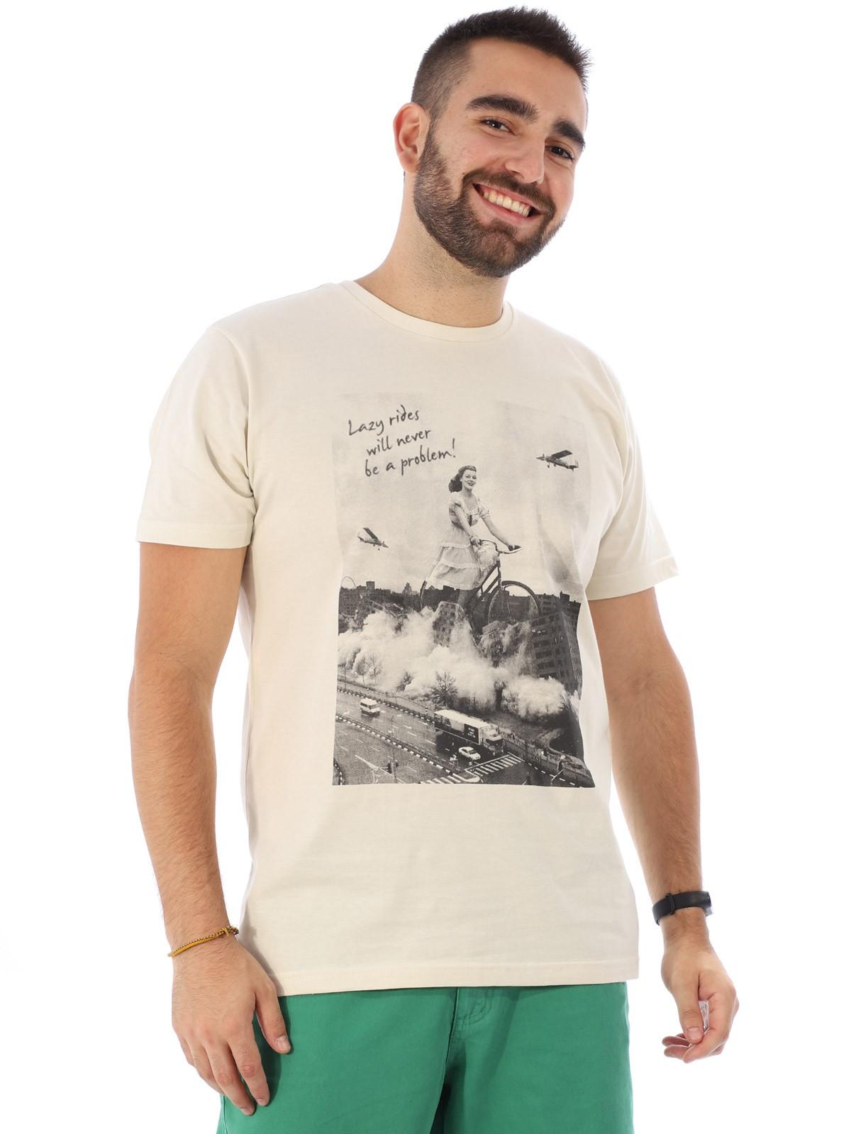Camiseta Masculina Manga Curta Básica Algodão Lazy Areia