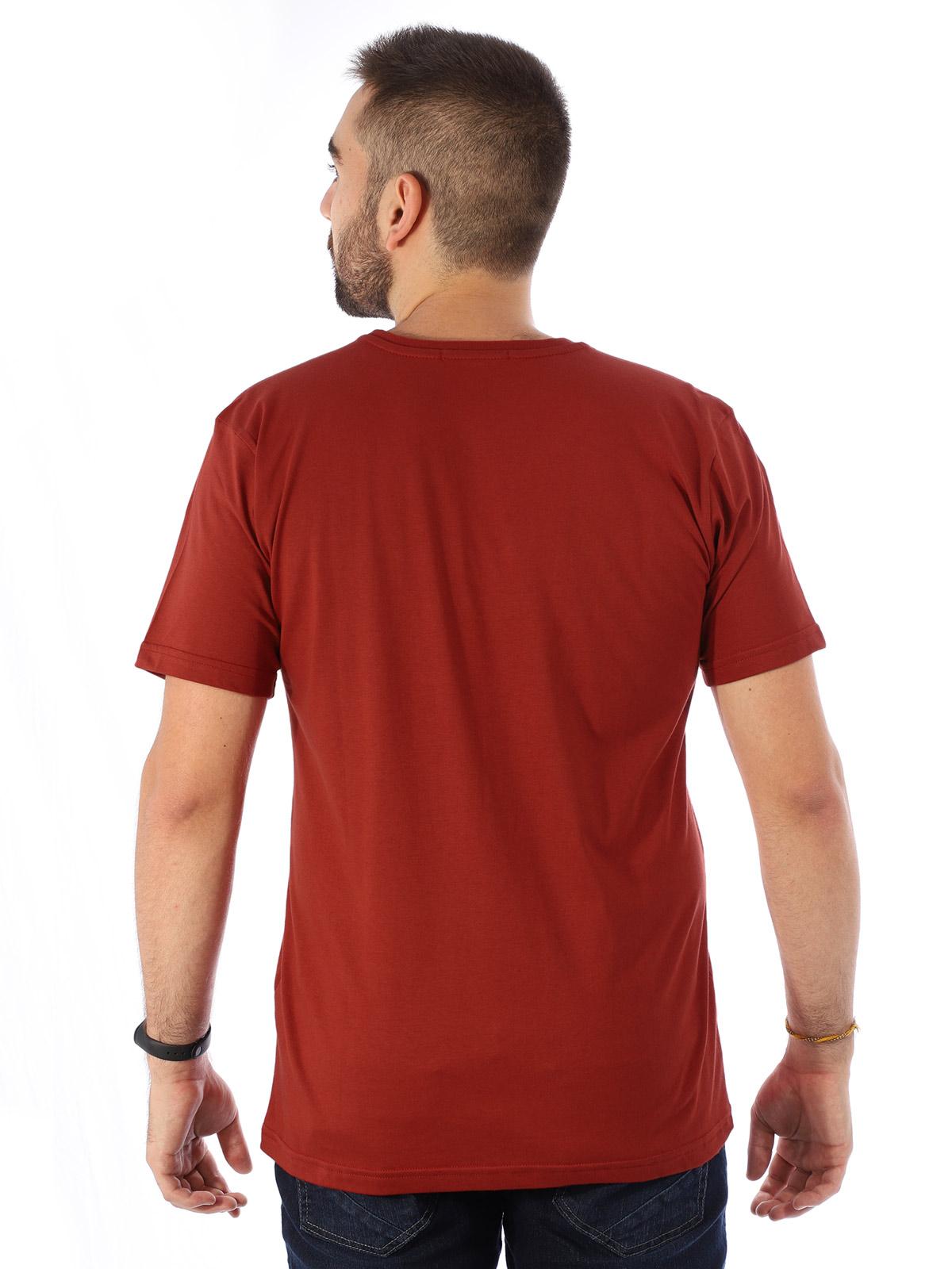 Camiseta Masculina Manga Curta Básica Devils Ferrugem