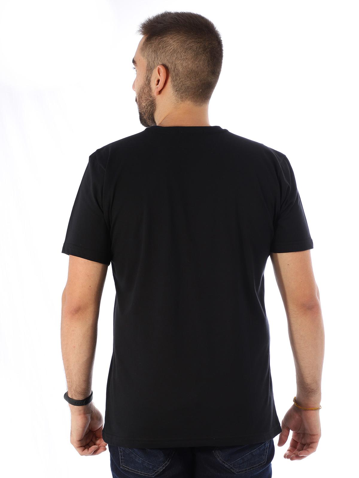 Camiseta Masculina Manga Curta Básica Devils Preto