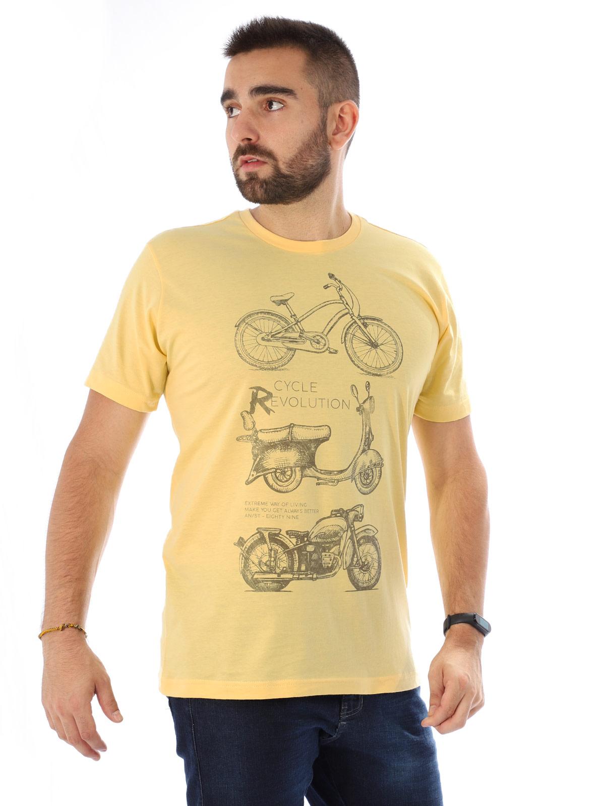 Camiseta Masculina Manga Curta Básica Evolution Amarelo