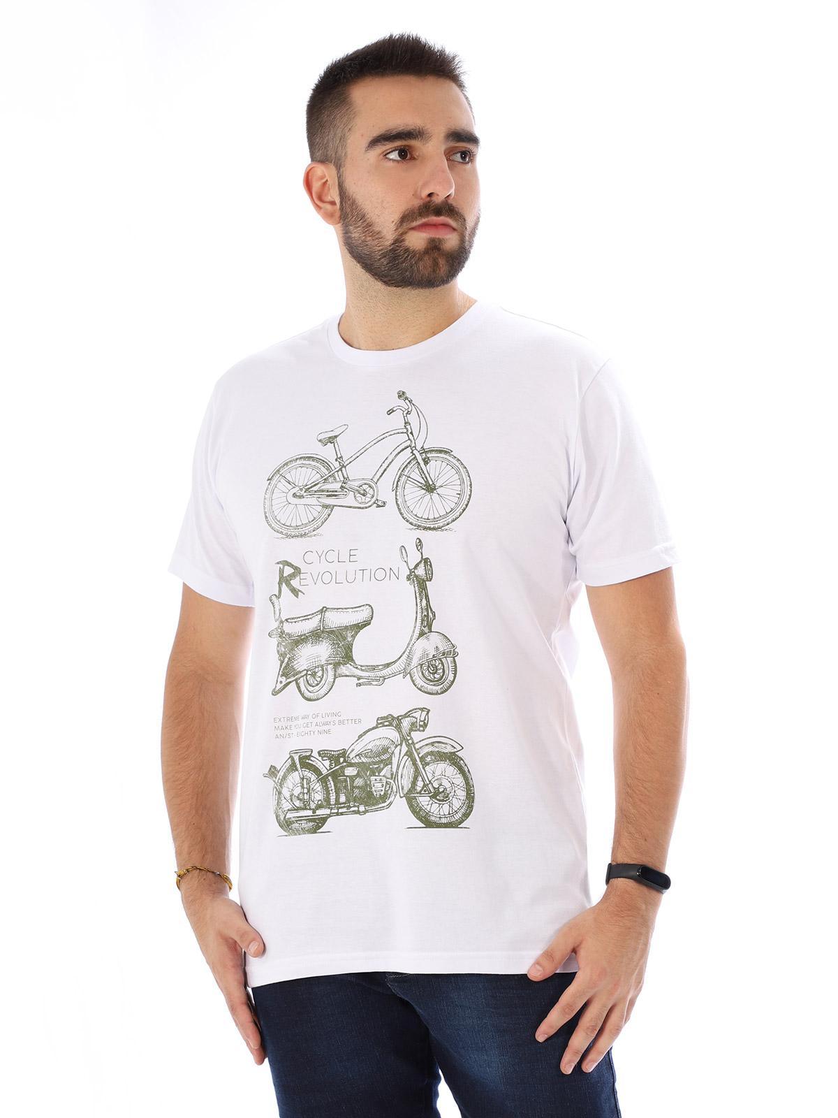 Camiseta Masculina Manga Curta Básica Evolution Branco
