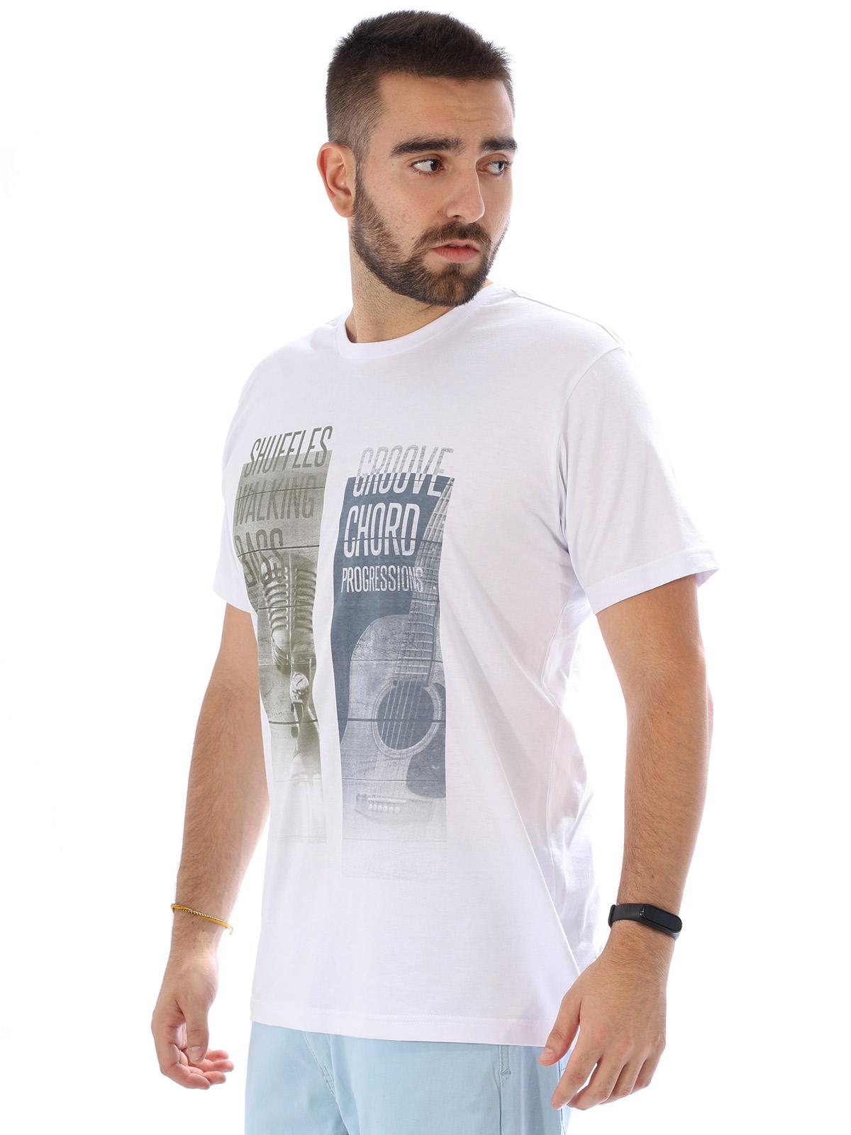 Camiseta Masculina Manga Curta Básica Groover Branco