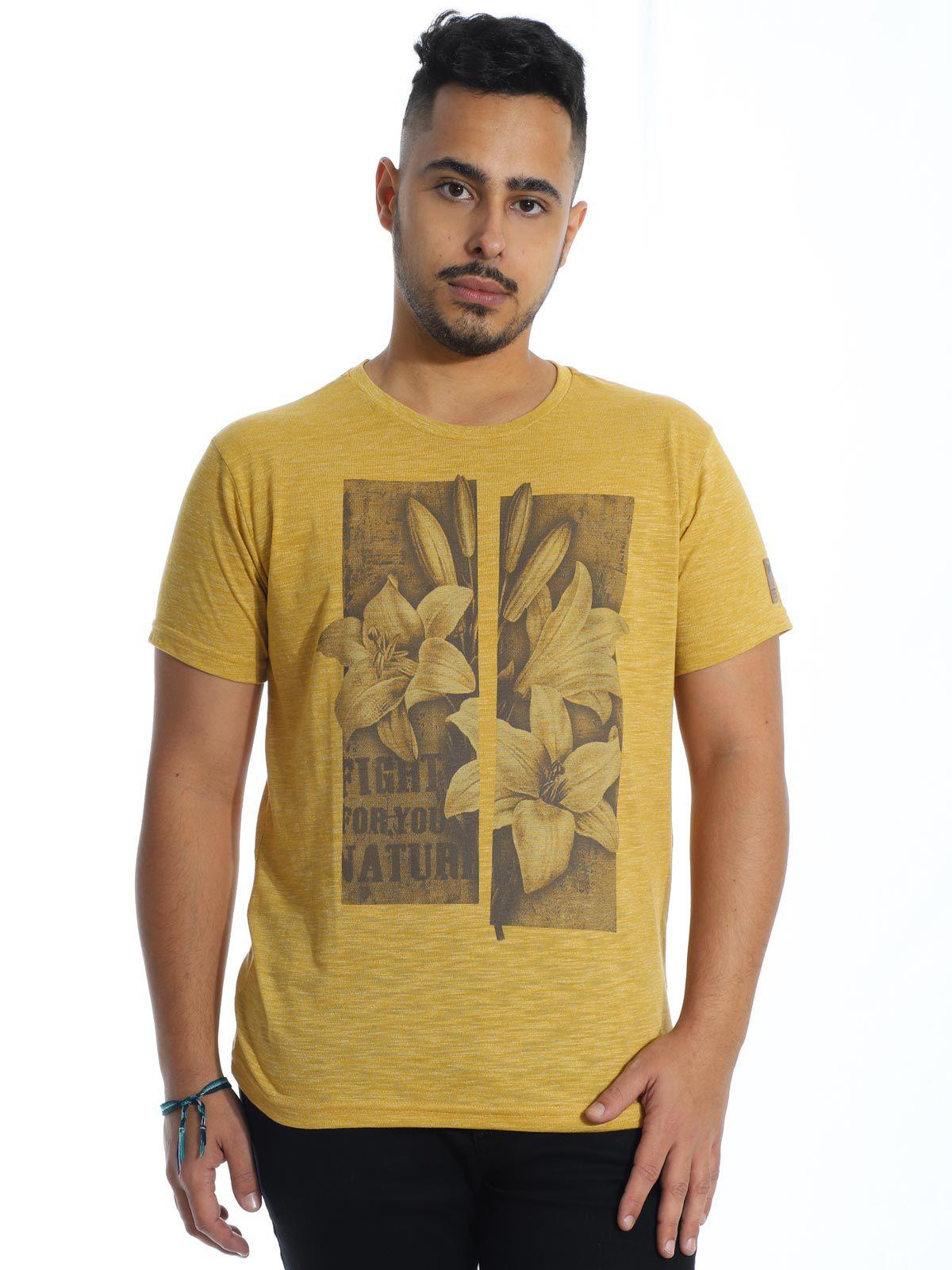 Camiseta Masculina Slim Fit Granite Anistia Amarelo
