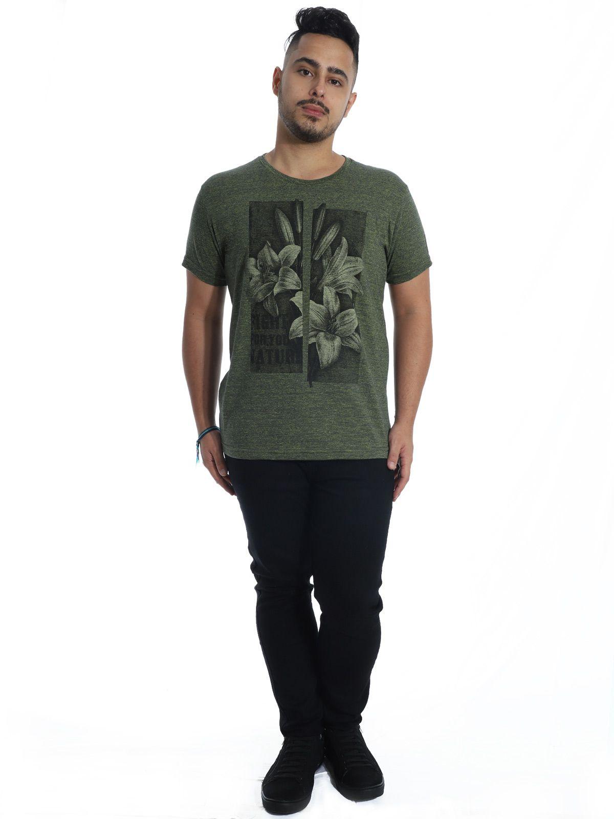 Camiseta Masculina Slim Fit Granite Anistia Verde