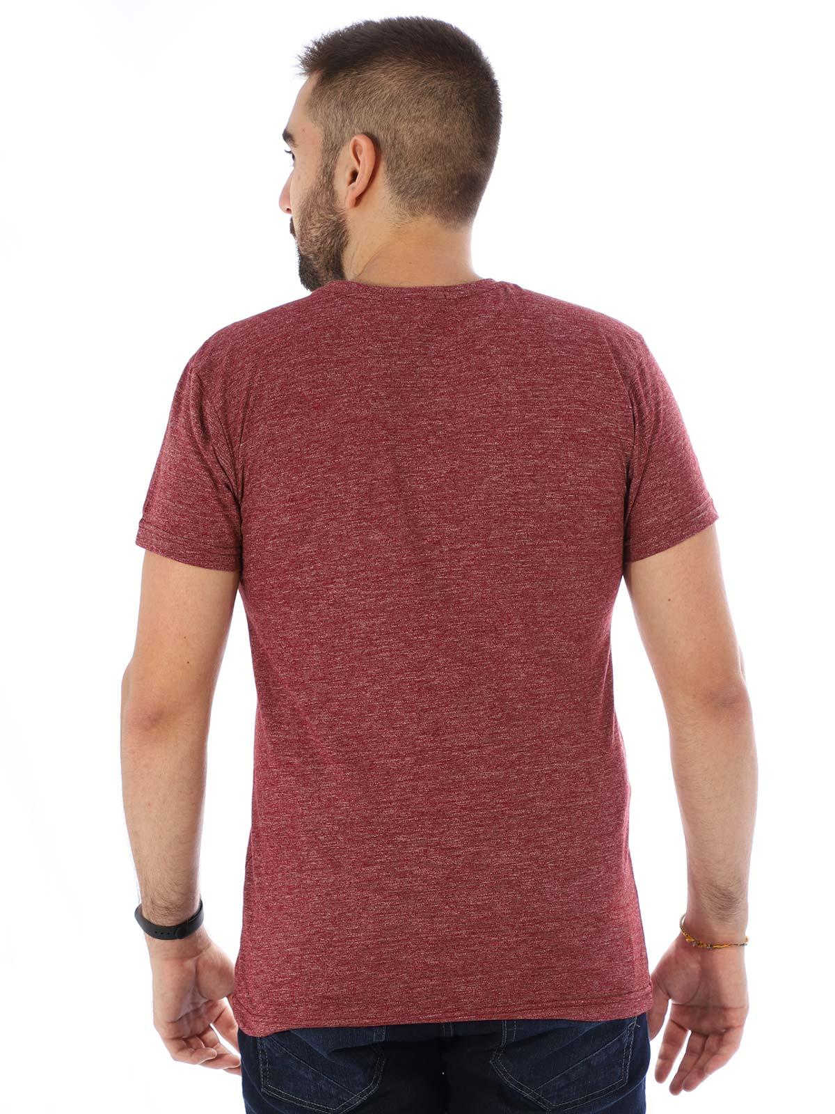 Camiseta Masculina Slim Fit Manga Curta Duo Bordo