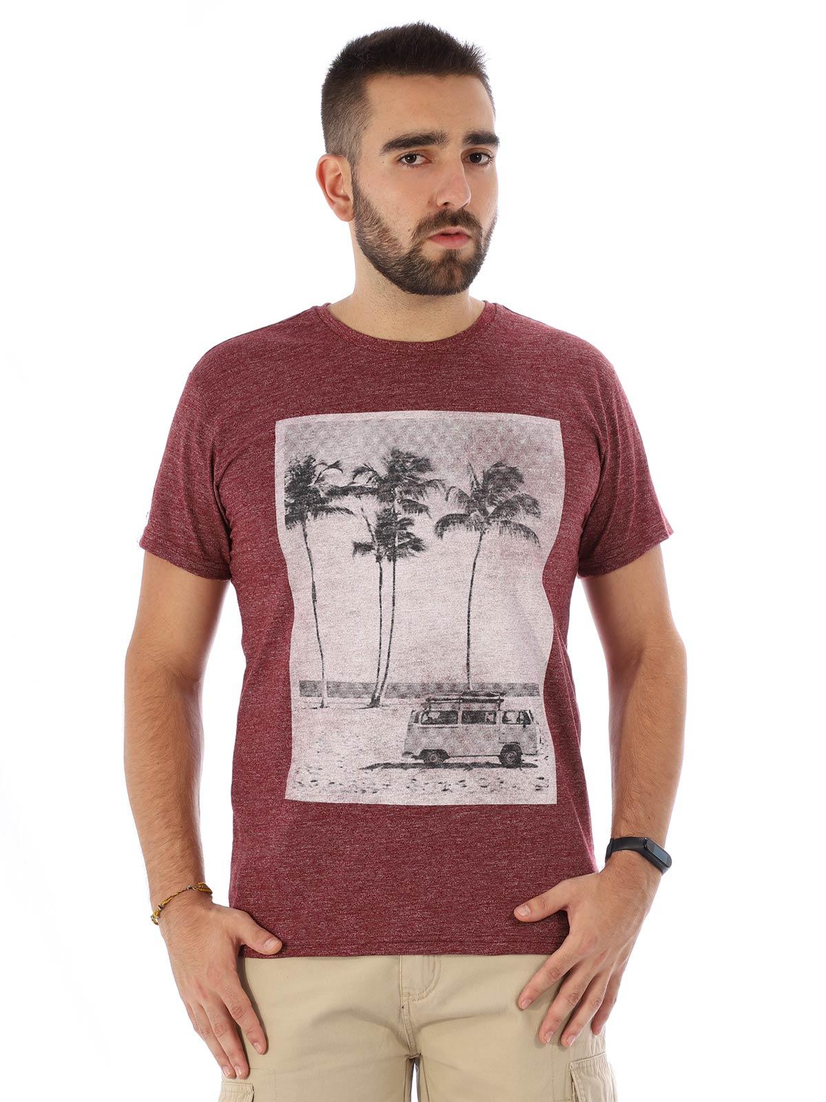 Camiseta Masculina Slim Fit Manga Curta Uno Bordo