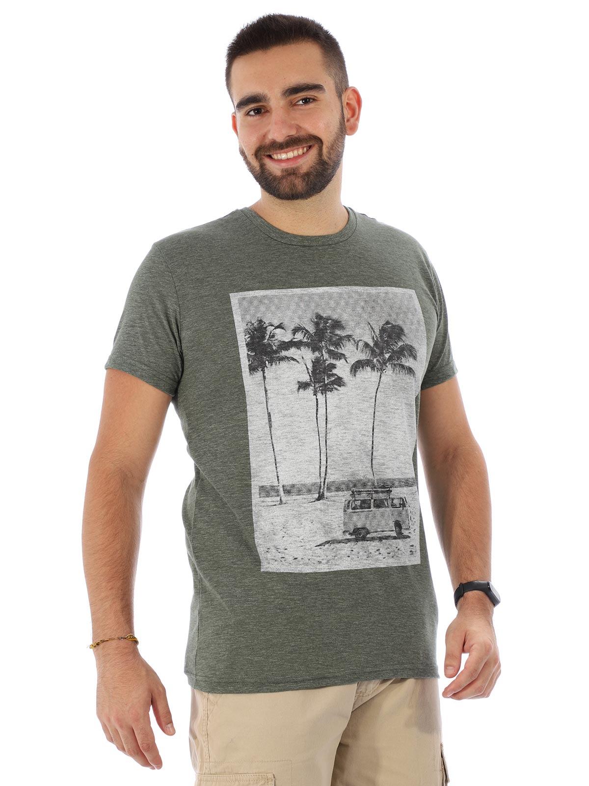 Camiseta Masculina Slim Fit Manga Curta Uno Militar