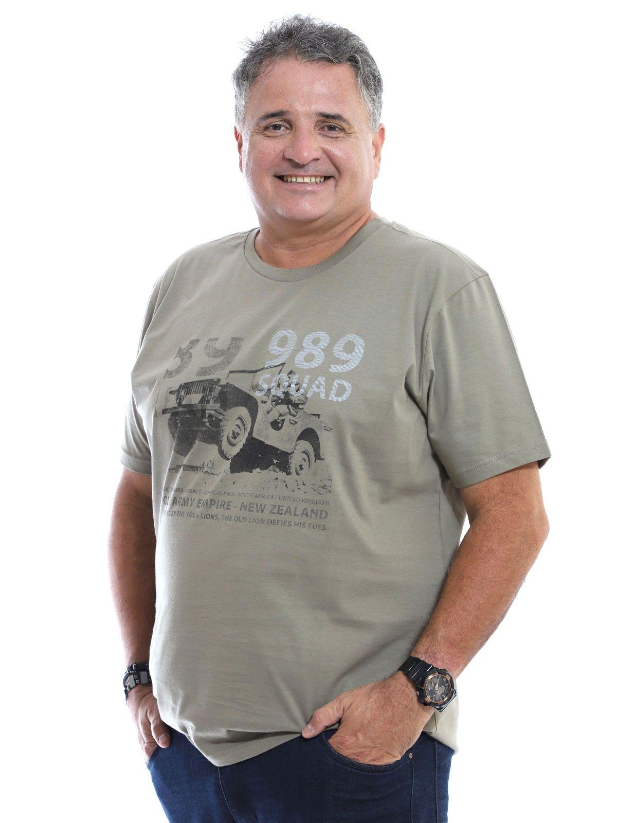 Camiseta Plus Size Anistia Army Bambu