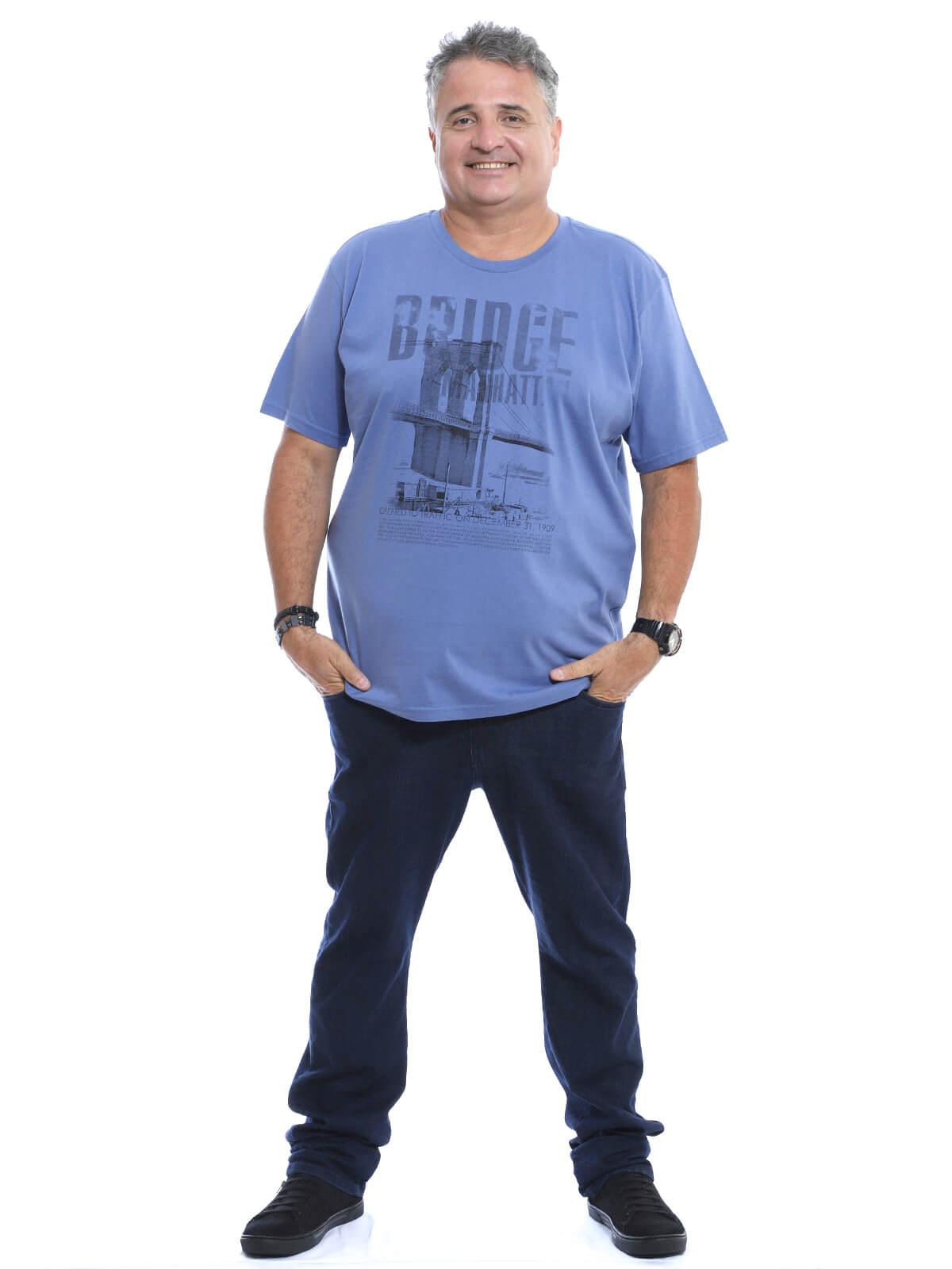 Camiseta Plus Size Anistia Bridge Indigo