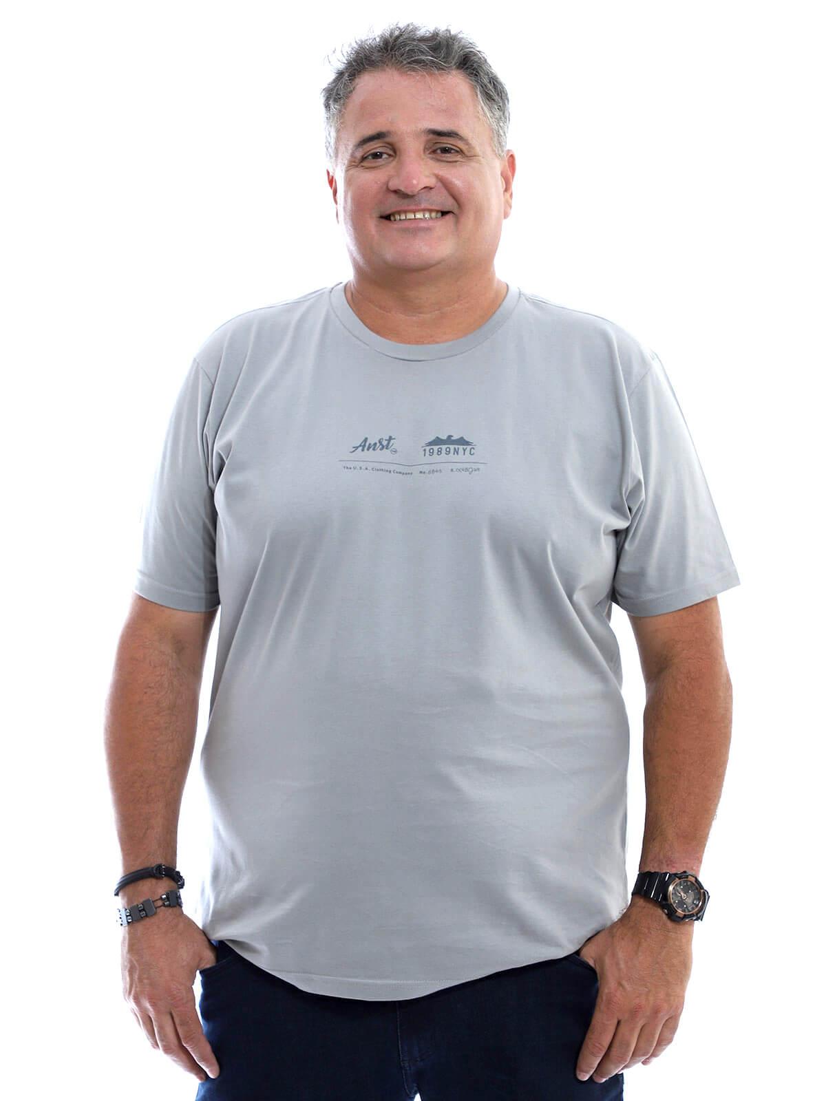 Camiseta Plus Size Anistia Company Cinza