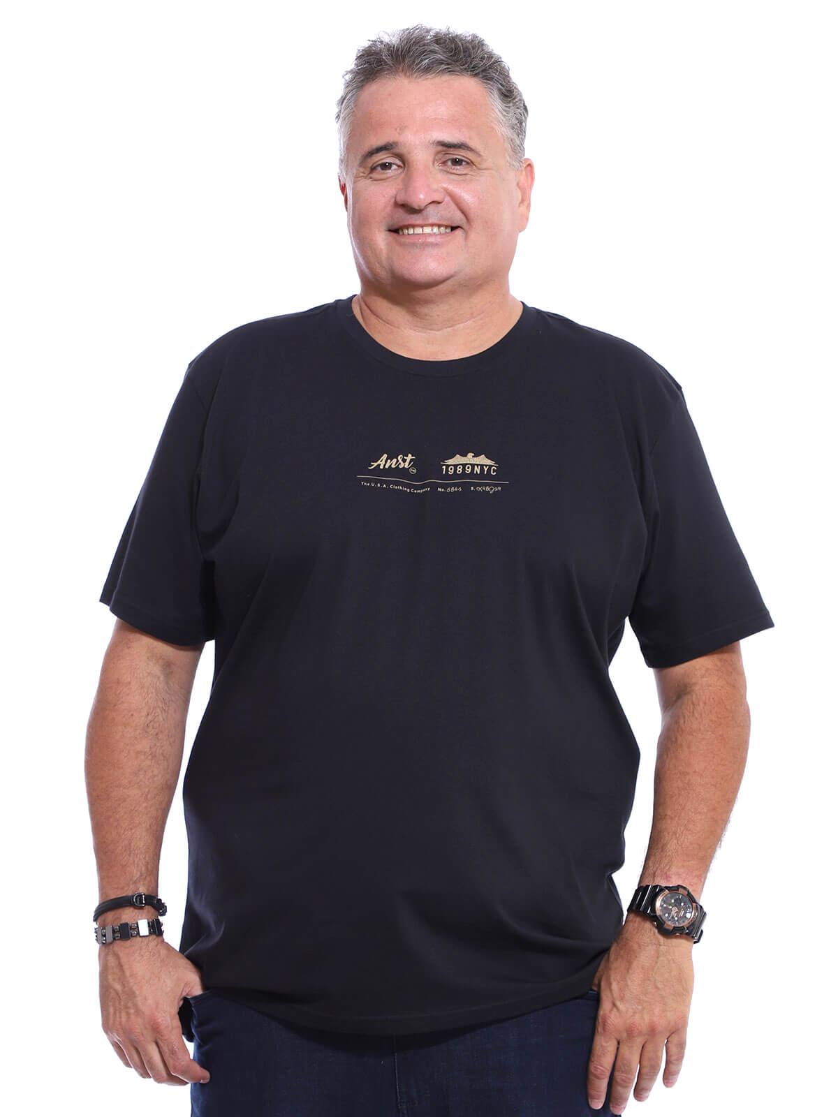 Camiseta Plus Size Anistia Company Preto