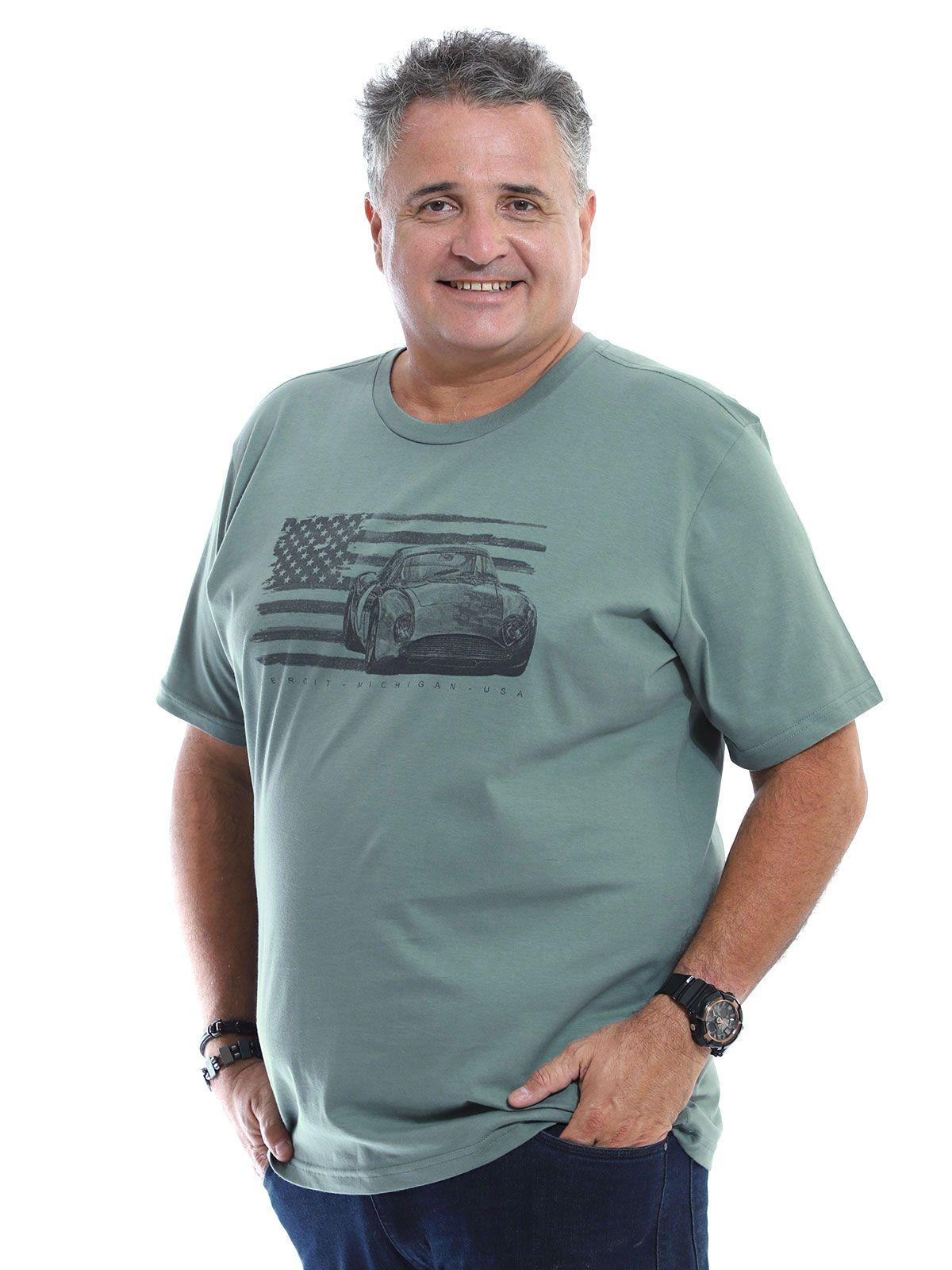 Camiseta Plus Size Anistia Detroit Concreto