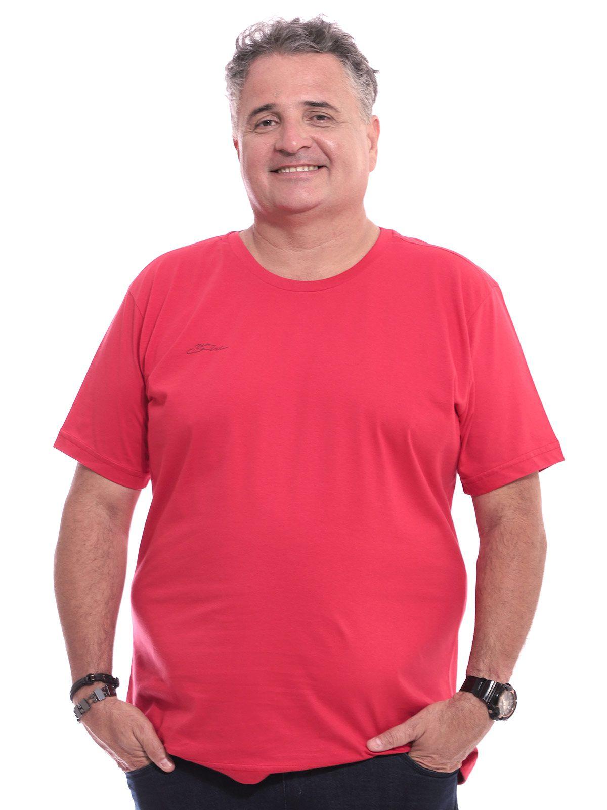 Camiseta Plus Size Anistia Estampa Lateral Vermelho