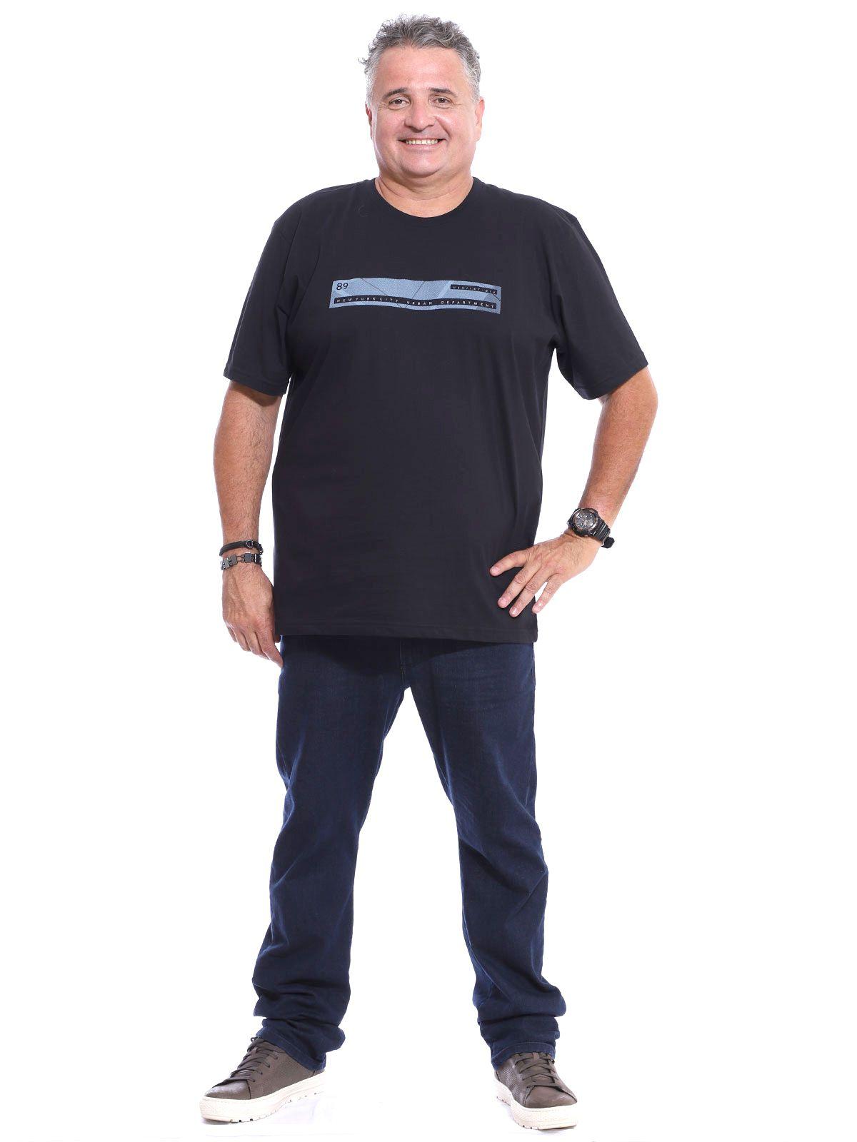 Camiseta Plus Size Anistia Front Preto
