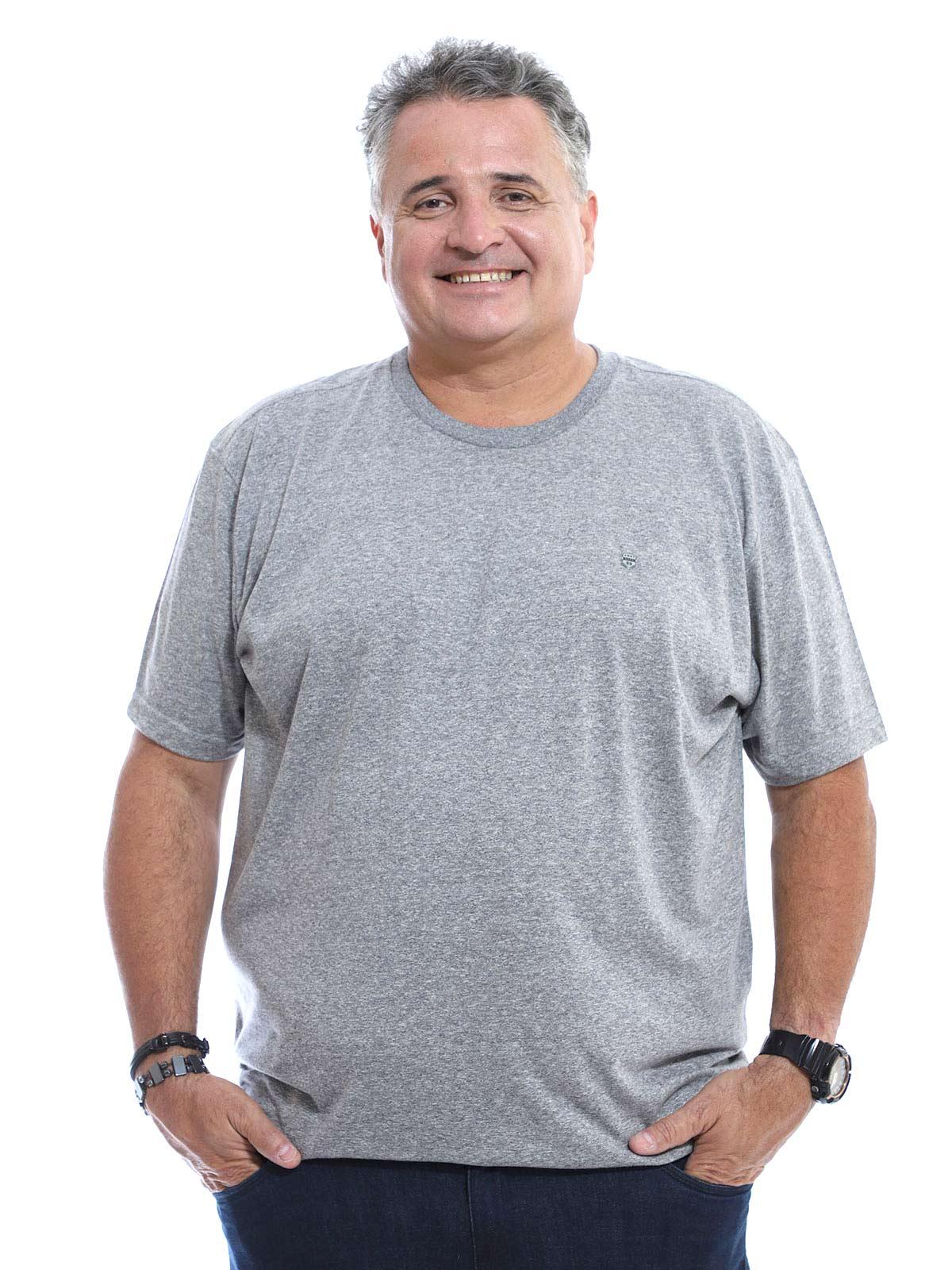 Camiseta Plus Size Anistia Mouline Mescla