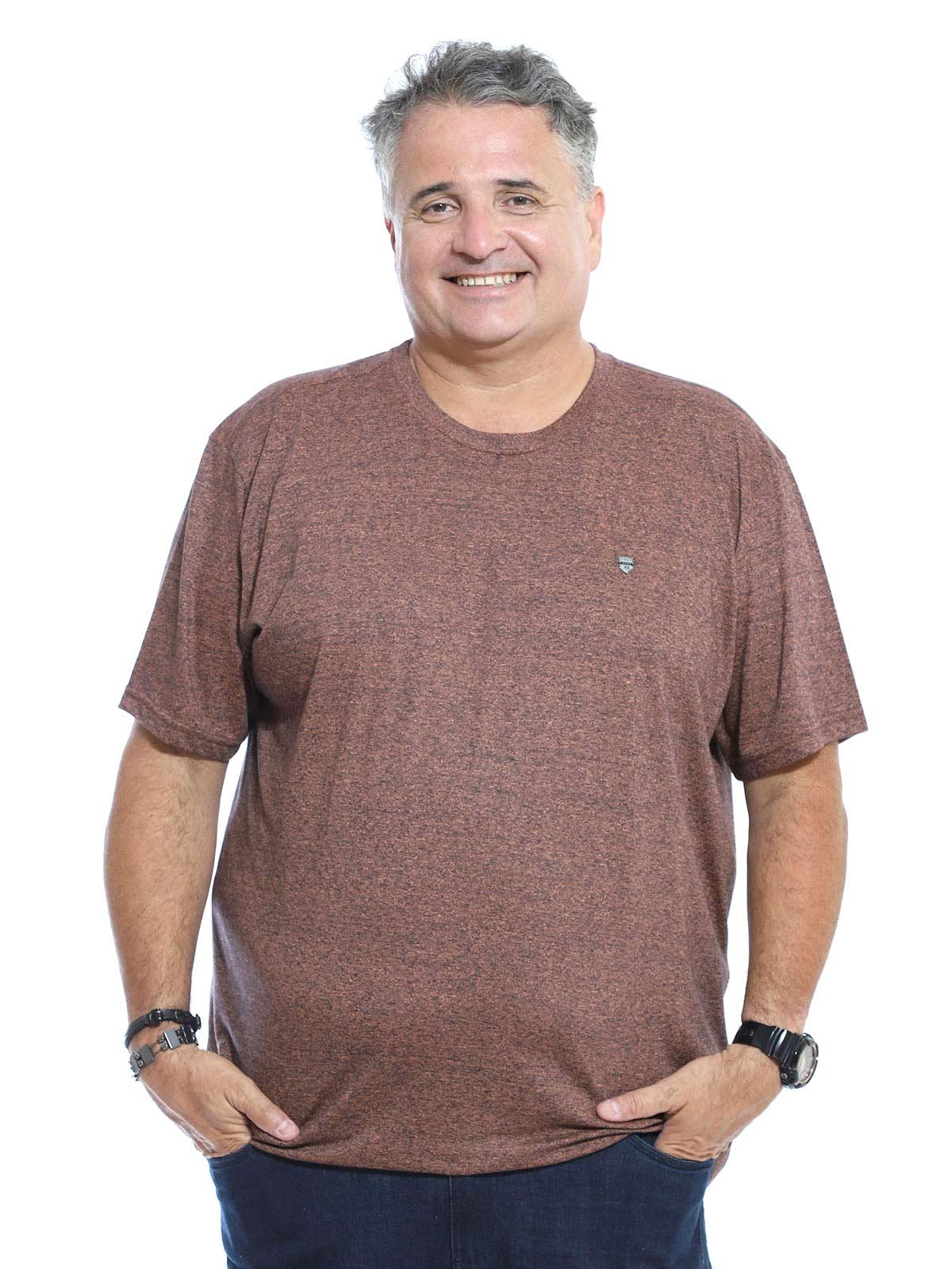 Camiseta Plus Size Anistia Mouline Tijolo