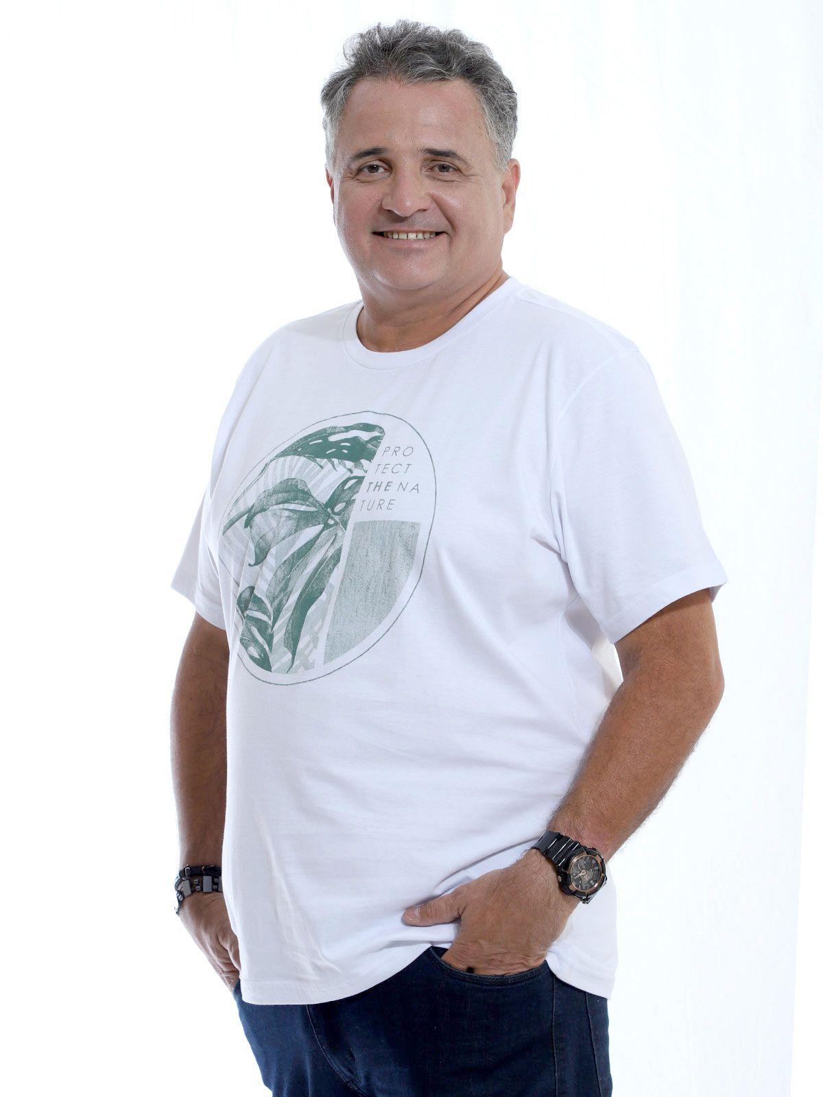 Camiseta Plus Size Anistia Nature Branco